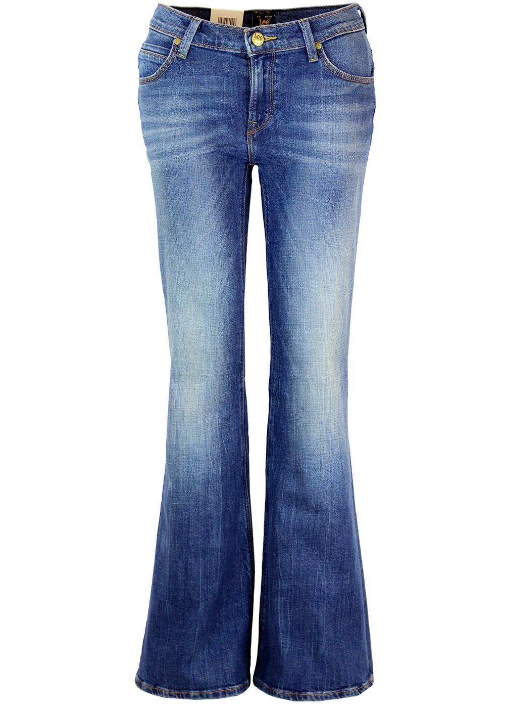 Annetta LEE Retro 70s Wide Flare Denim Jeans