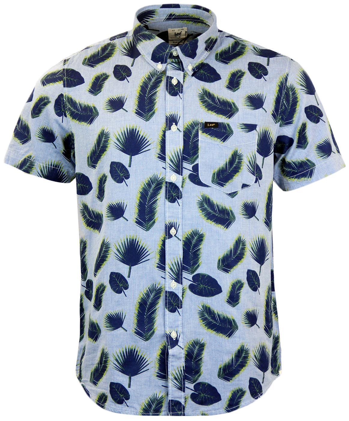 LEE Retro Mod Button Down Feather Print Shirt