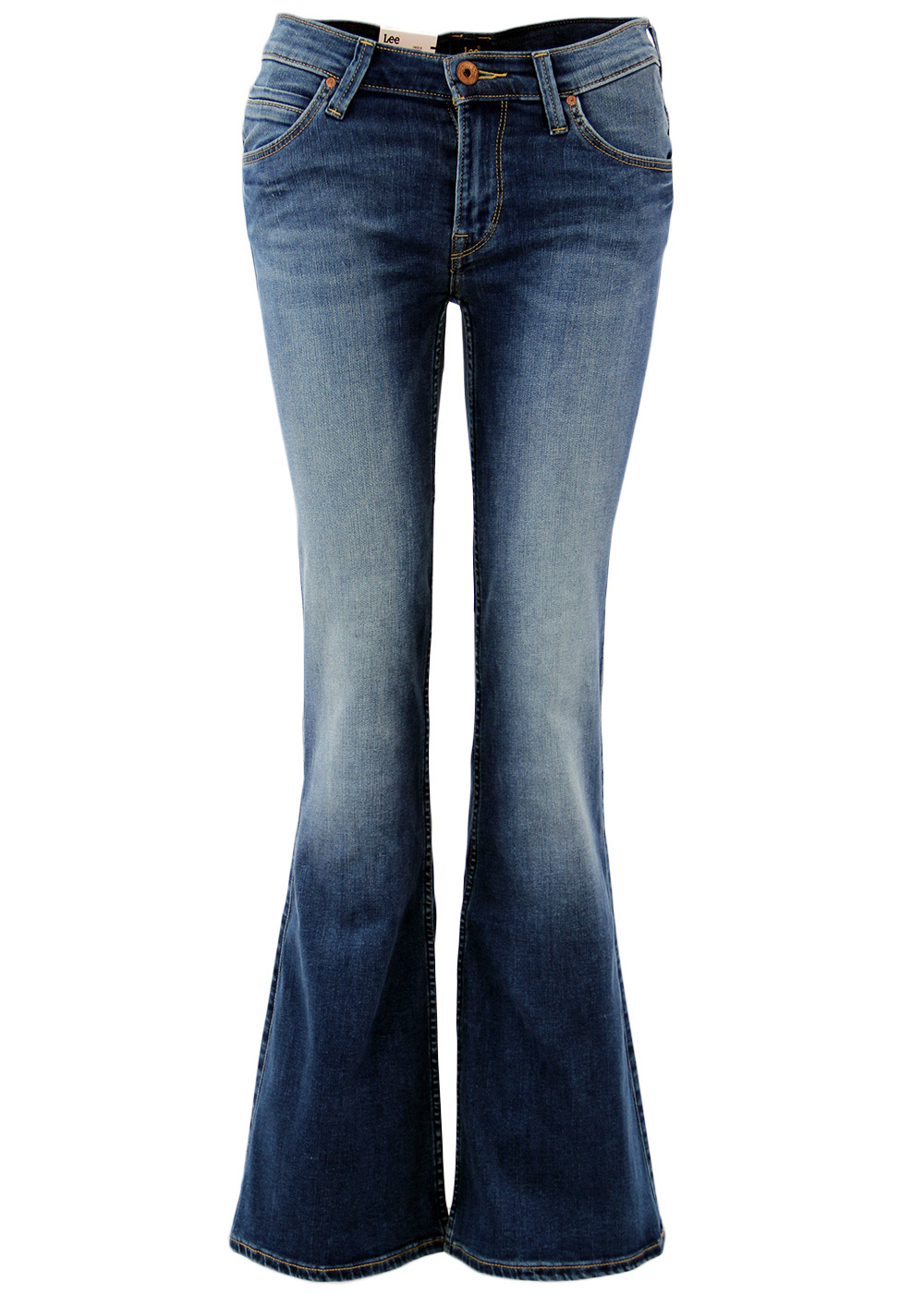 Annetta LEE Retro 1970s Flare Lagoon Denim Jeans