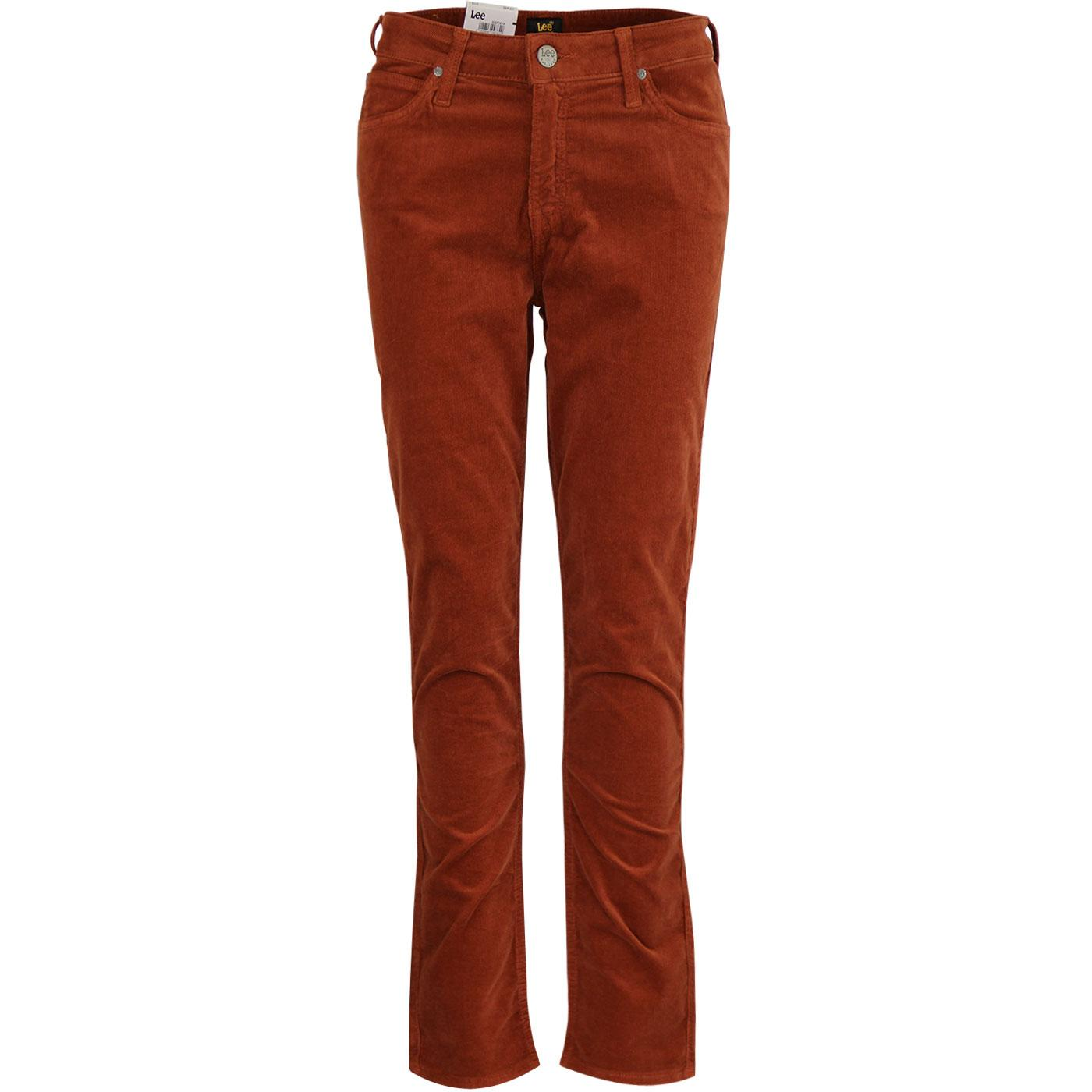 Elly LEE High Waist Slim Cord Trousers (Picante)