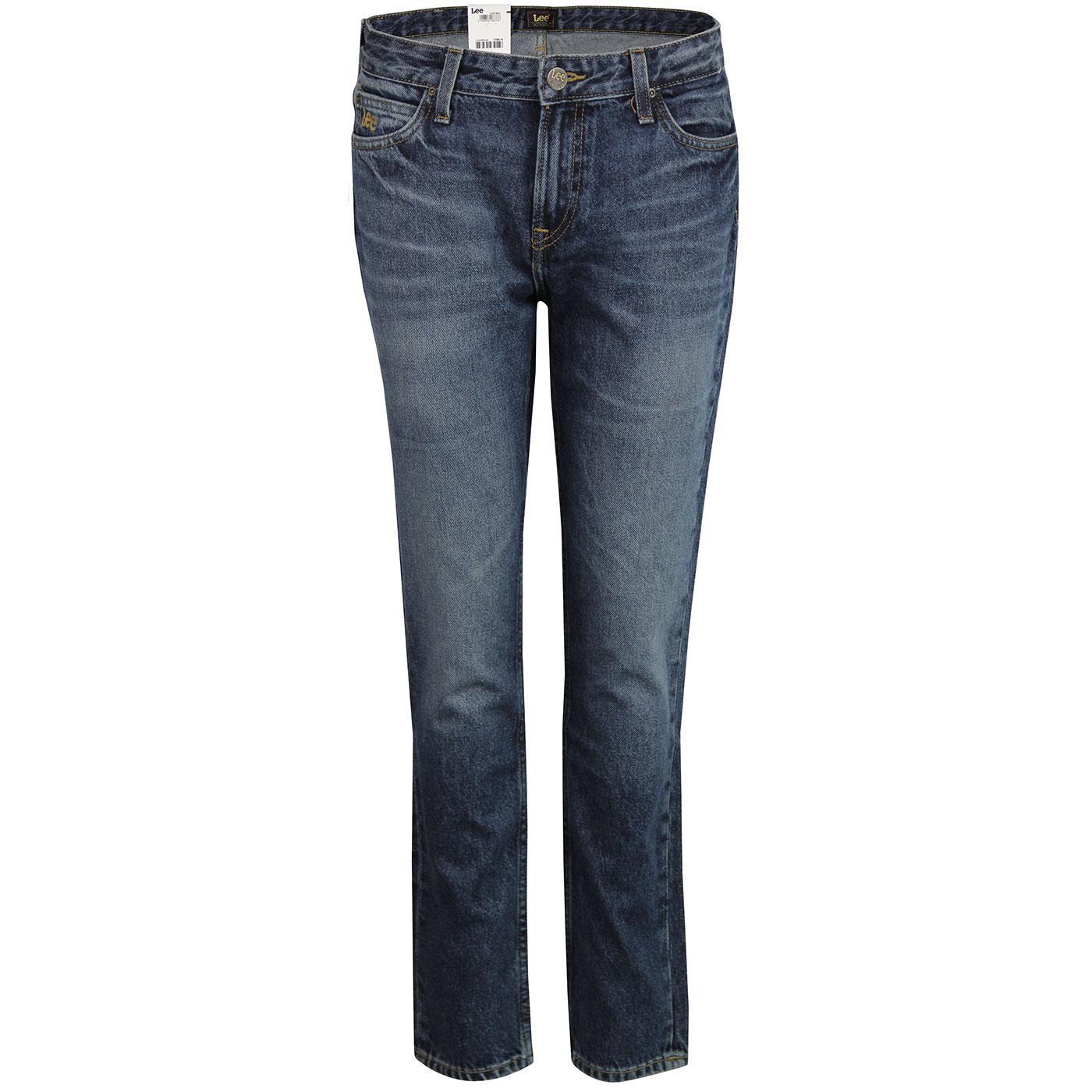 Elly LEE High Waist Slim Straight Denim Jeans (RW)