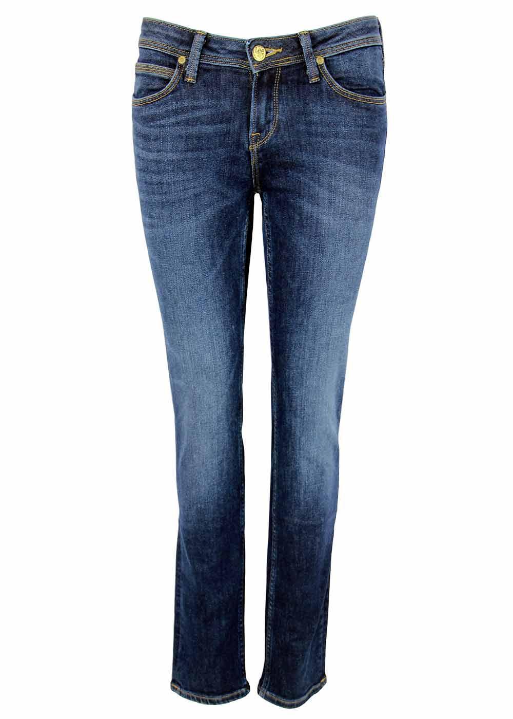 emlyn lee retro indie straight tapered fit denim jeans blue notes. Black Bedroom Furniture Sets. Home Design Ideas