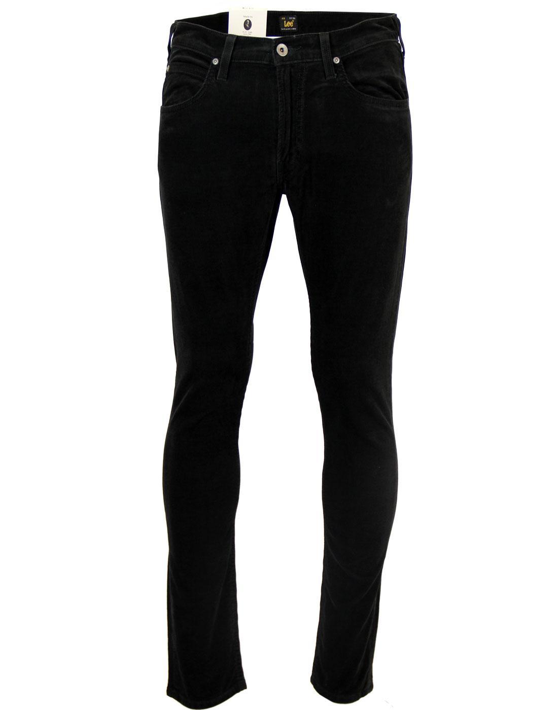 Luke LEE Retro Mod Slim Tapered Cord Jeans (BLACK)