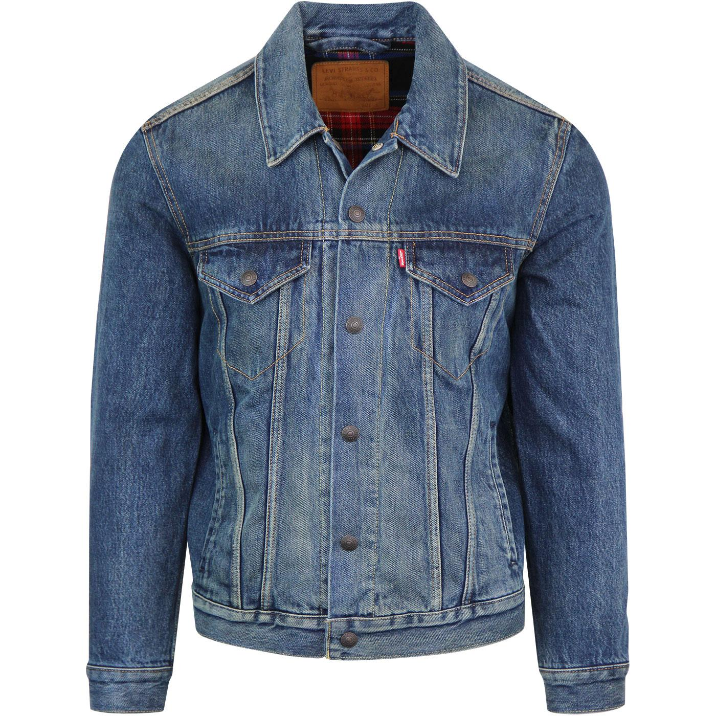 LEVI'S Retro 70s Lined Trucker Jacket in Chewy