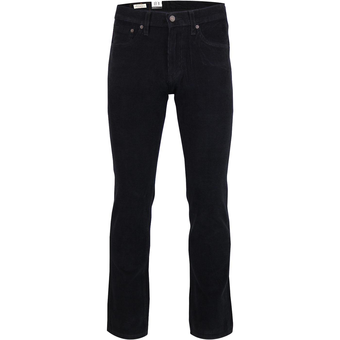LEVI'S 511 Retro Men's Mod Slim Cord Jeans (Black)