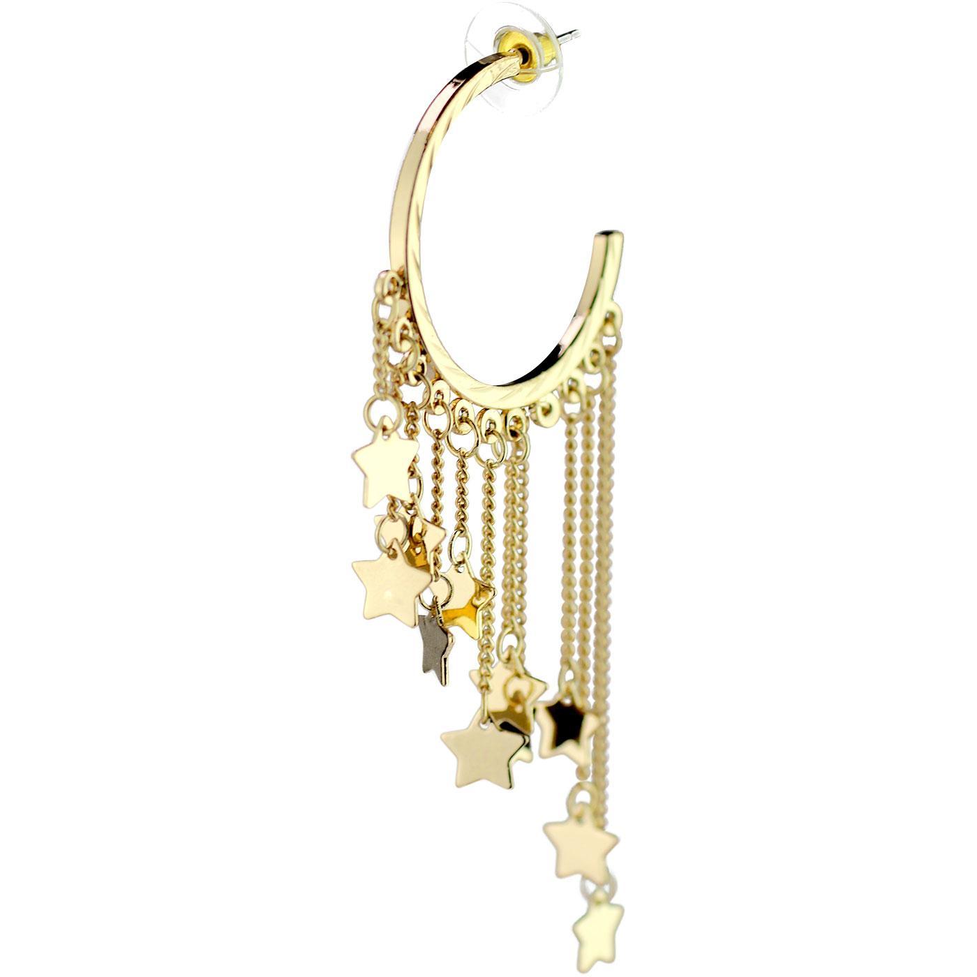 +Caitlin Lou LOUCHE Vintage Star Hoop Earrings G
