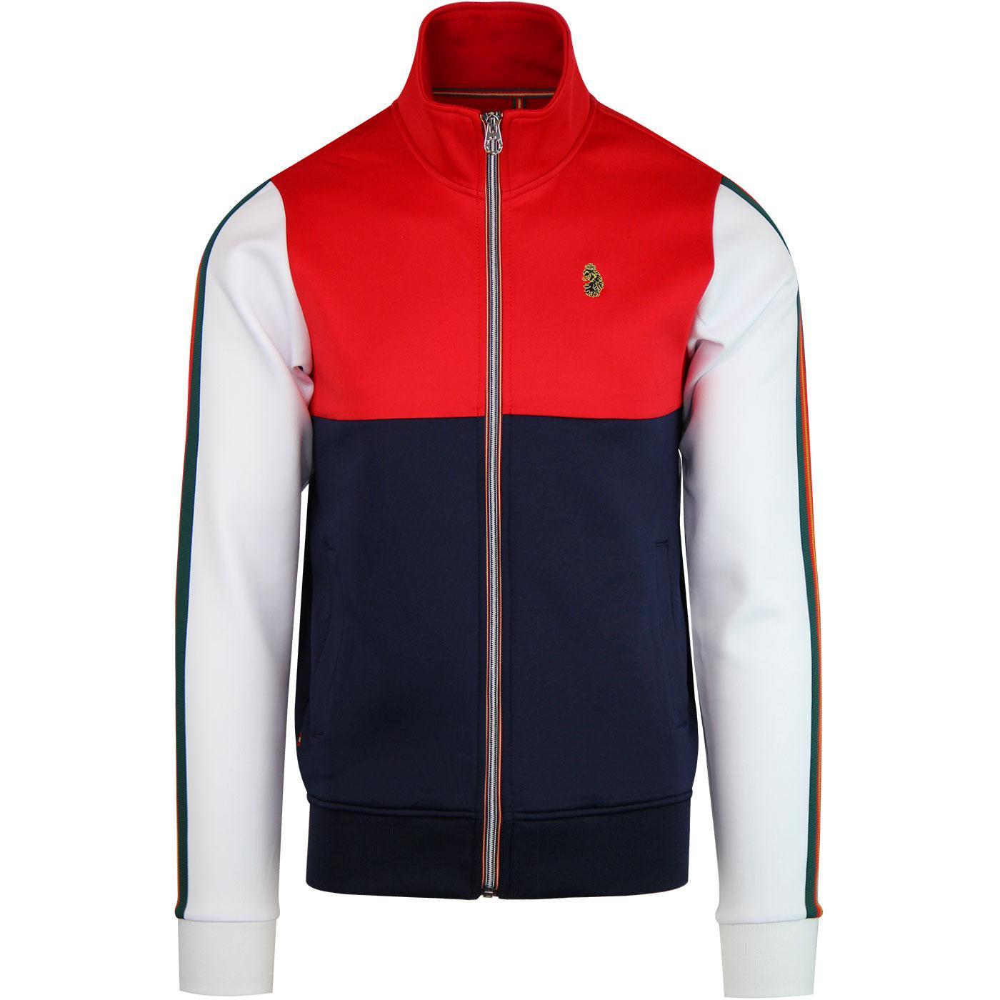 Hoddle LUKE Men's Retro 70s Sports Track Jacket