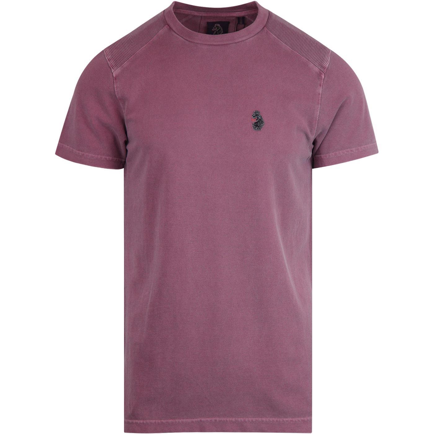 Mako LUKE 1977 Retro Dyed Crew Neck T-Shirt GRAPE