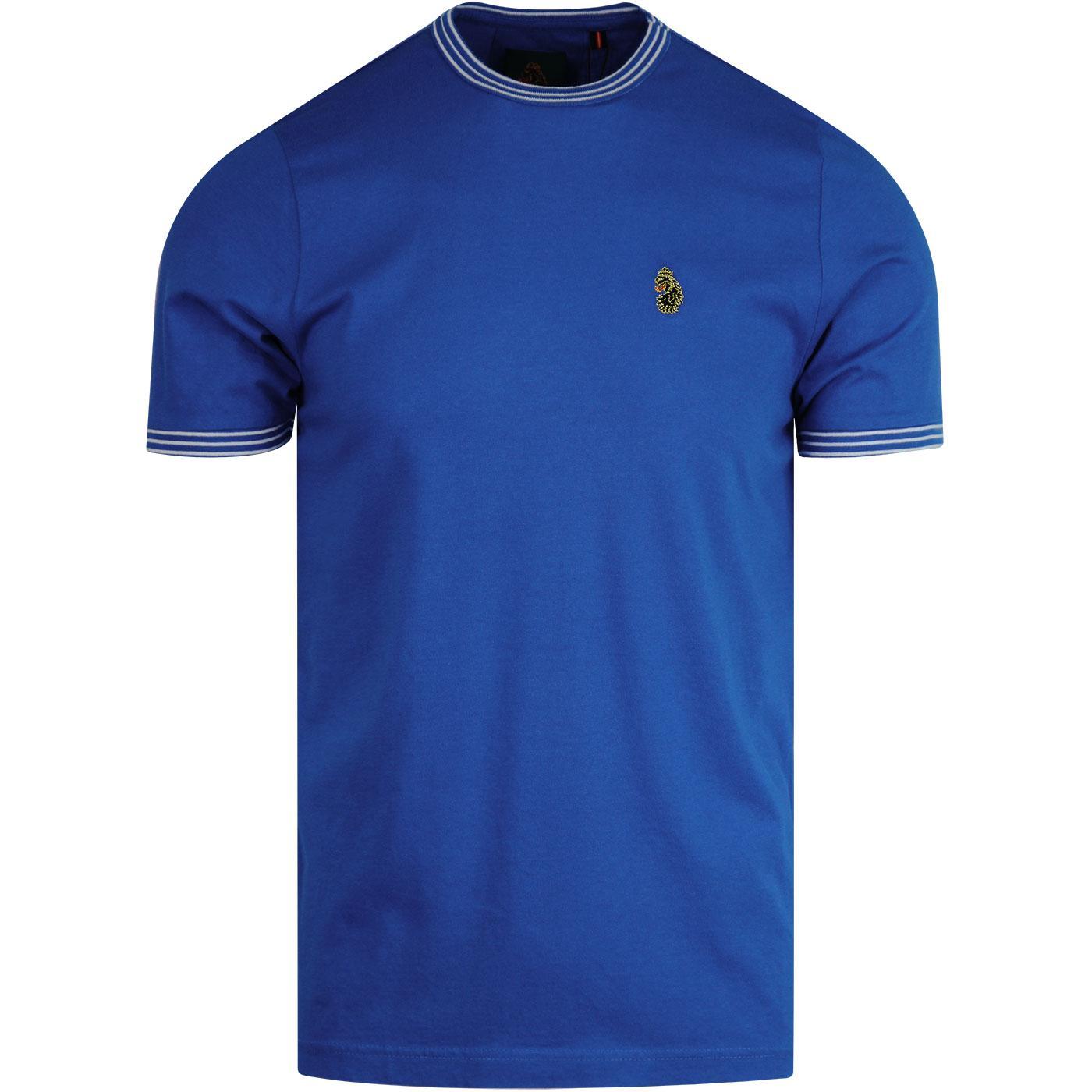 Traff 2 LUKE 1977 Crew Neck Sports T-Shirt Cobalt