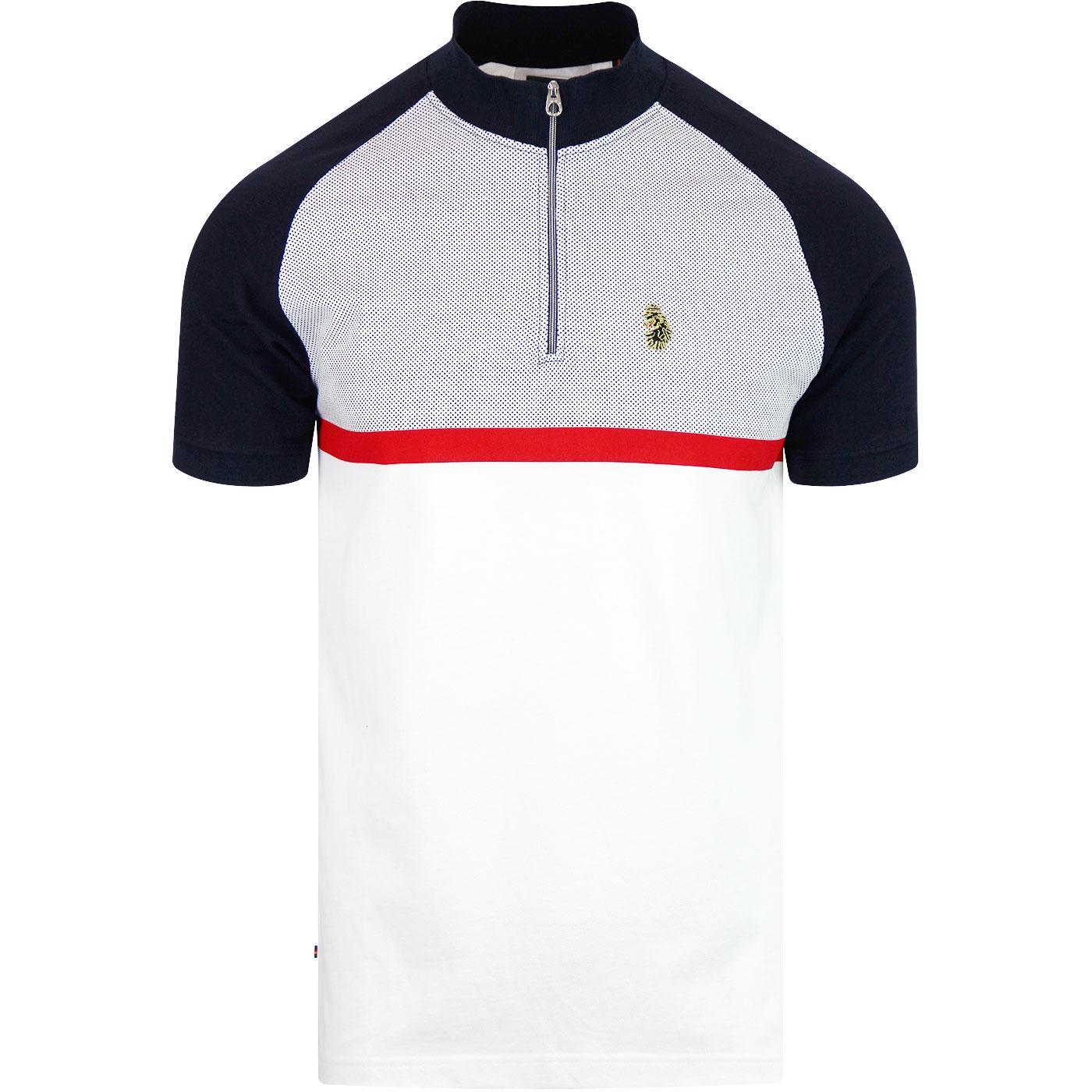 Classick LUKE Retro Mod Cycling Jersey (White)