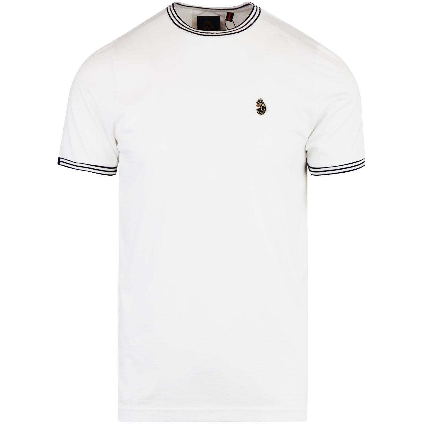 Traff 2 LUKE 1977 Crew Neck Sports T-Shirt WHITE