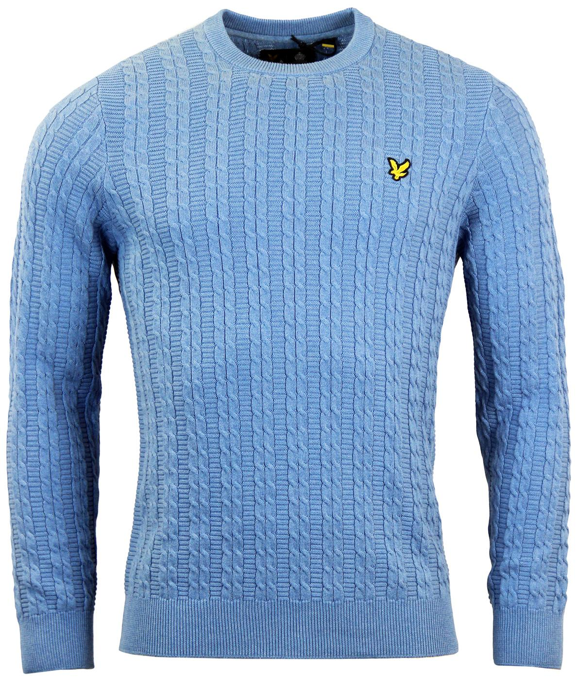 LYLE & SCOTT Retro Mod Cable Knit Ribbed Jumper