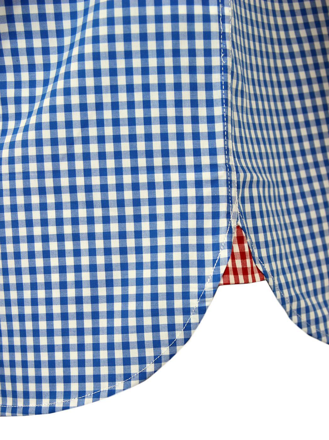 Lyle /& Scott SW401V Gingham Regular Fit Deep Cobalt Shirt