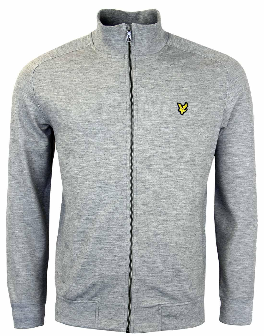 lyle scott retro indie funnel neck track jacket in grey. Black Bedroom Furniture Sets. Home Design Ideas
