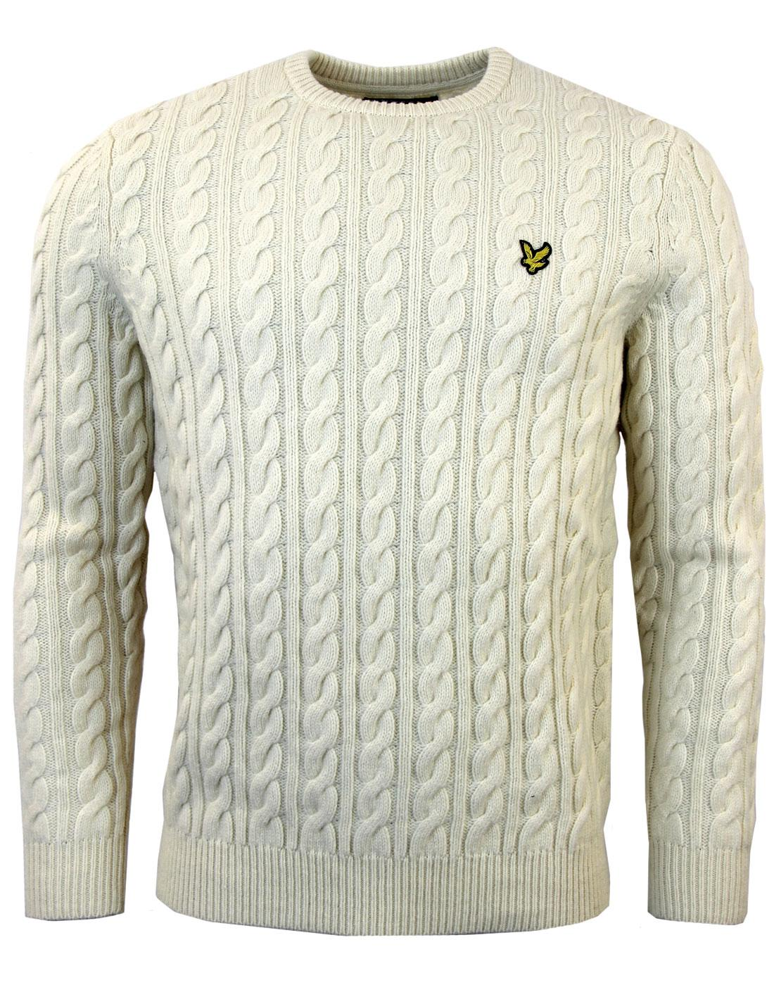LYLE & SCOTT Retro Lambswool Cable Knit Jumper (I)