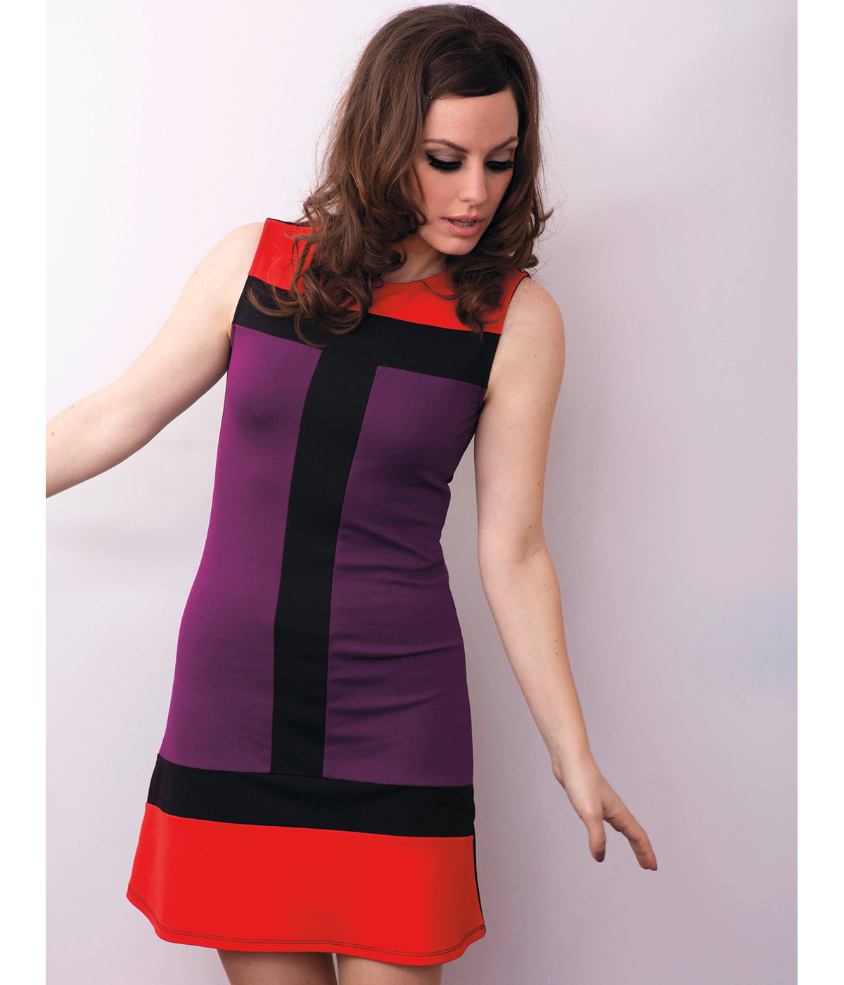 Carly MADEMOISELLE YEYE 60s Mod Colour Block Dress