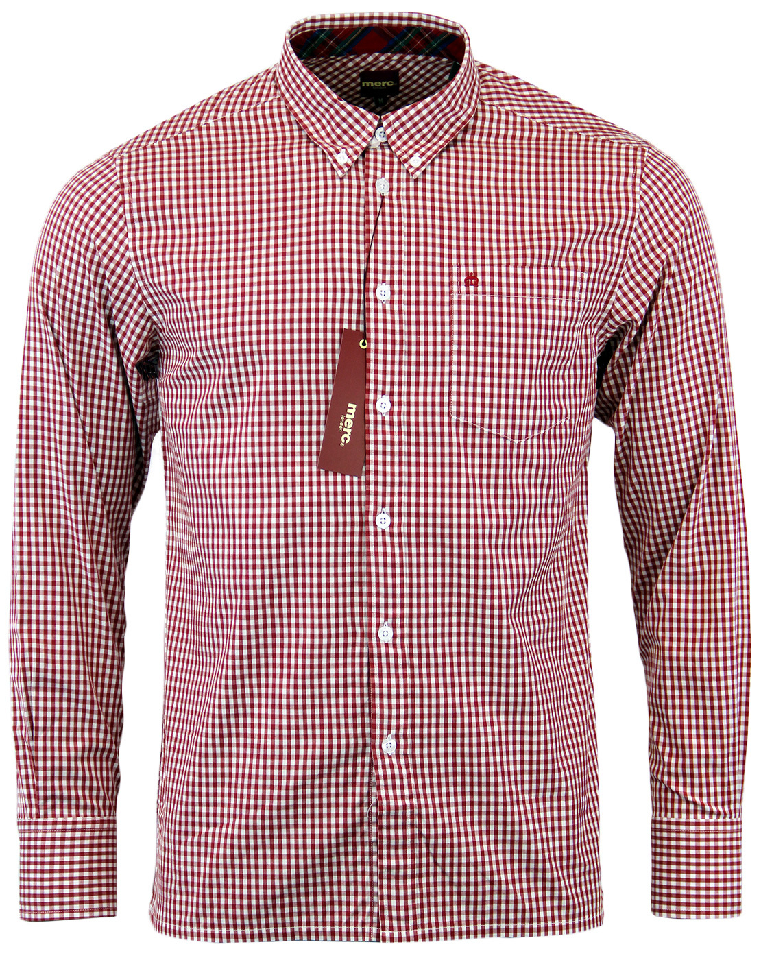 Japster MERC Retro Sixties Mod Gingham Shirt (R)