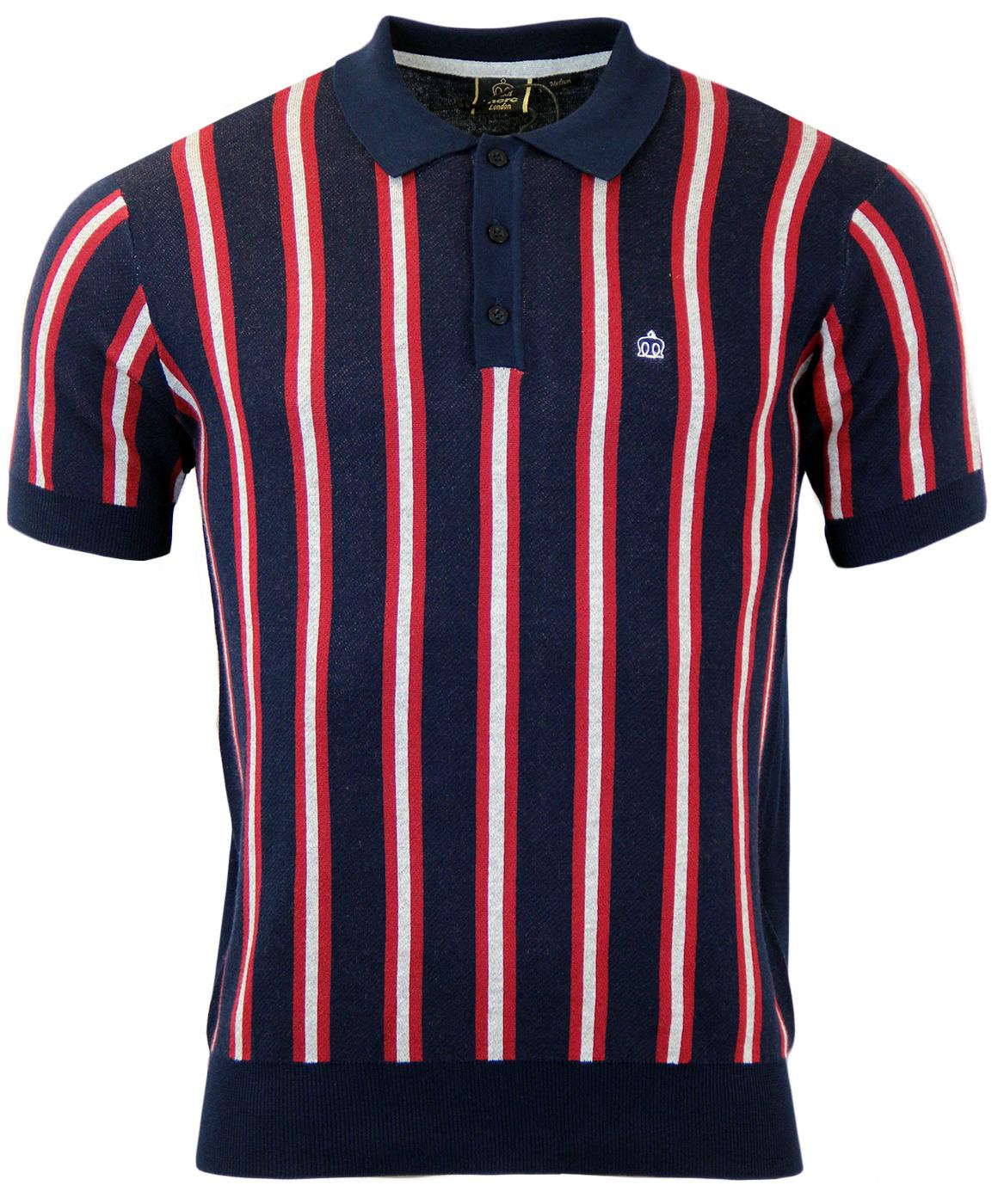 Jobling MERC Retro Mod Boating Stripe Knitted Polo