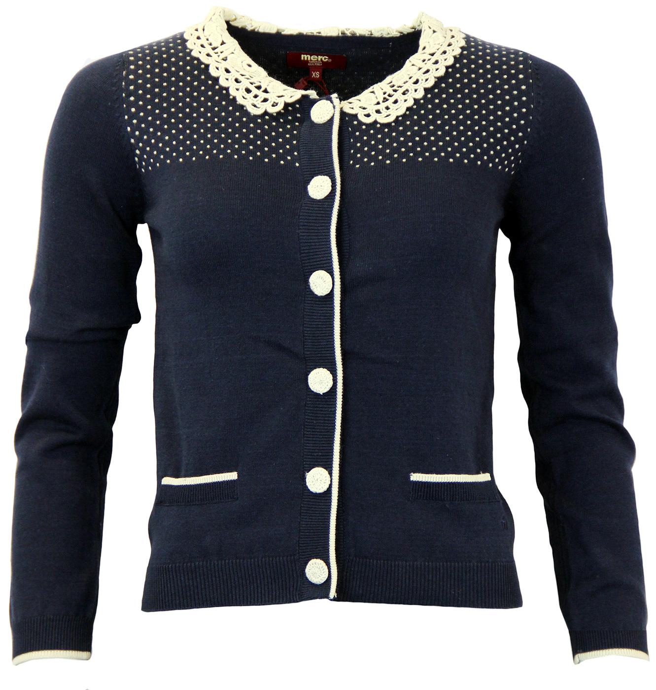 Kastel MERC Retro Vintage Lace Knitted Cardigan