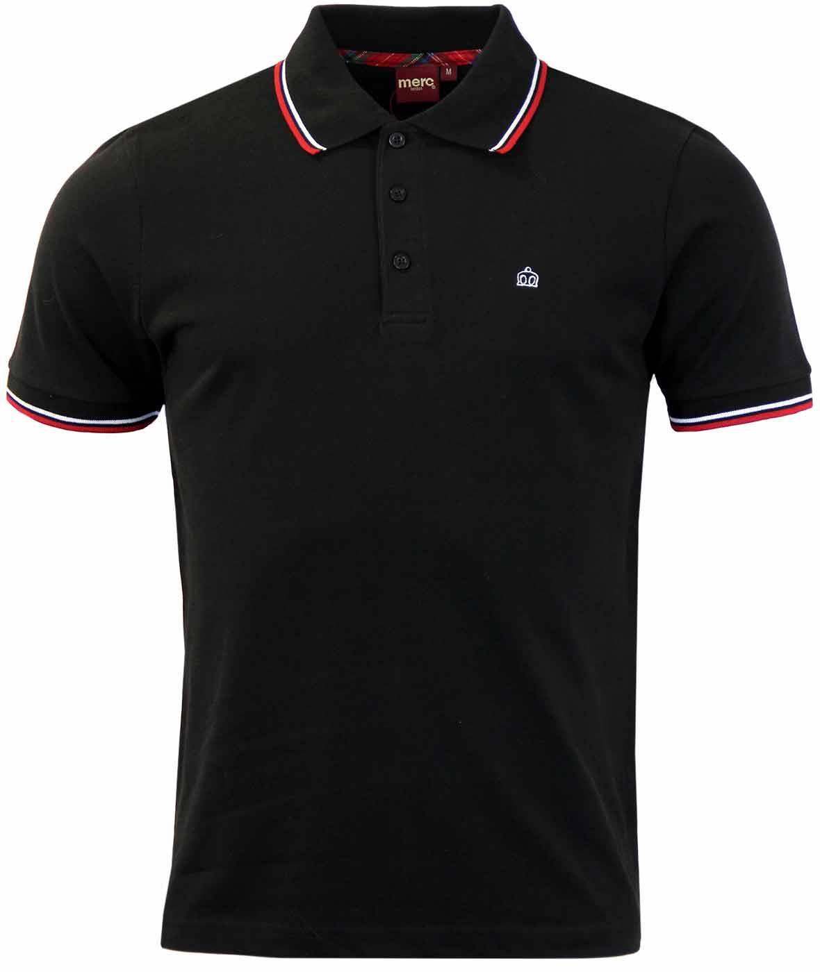 Card MERC Mod Retro Mens Tipped Pique Polo Shirt