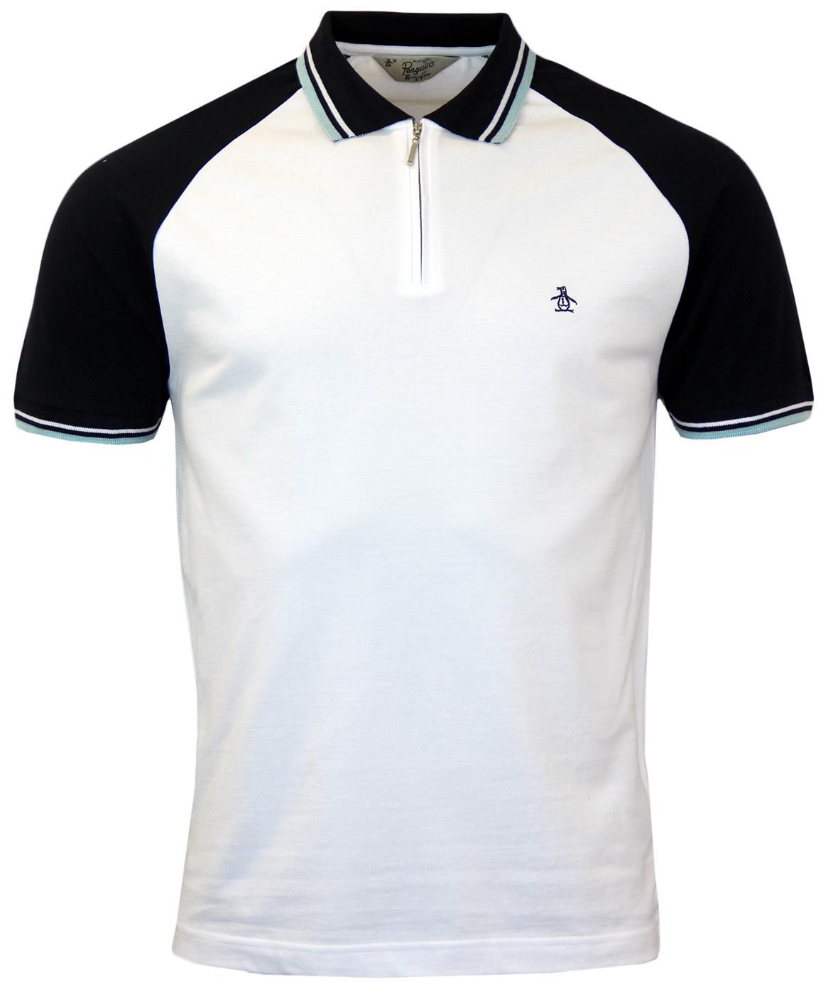 Lynks ORIGINAL PENGUIN Mod Tipped Collar Zip Polo