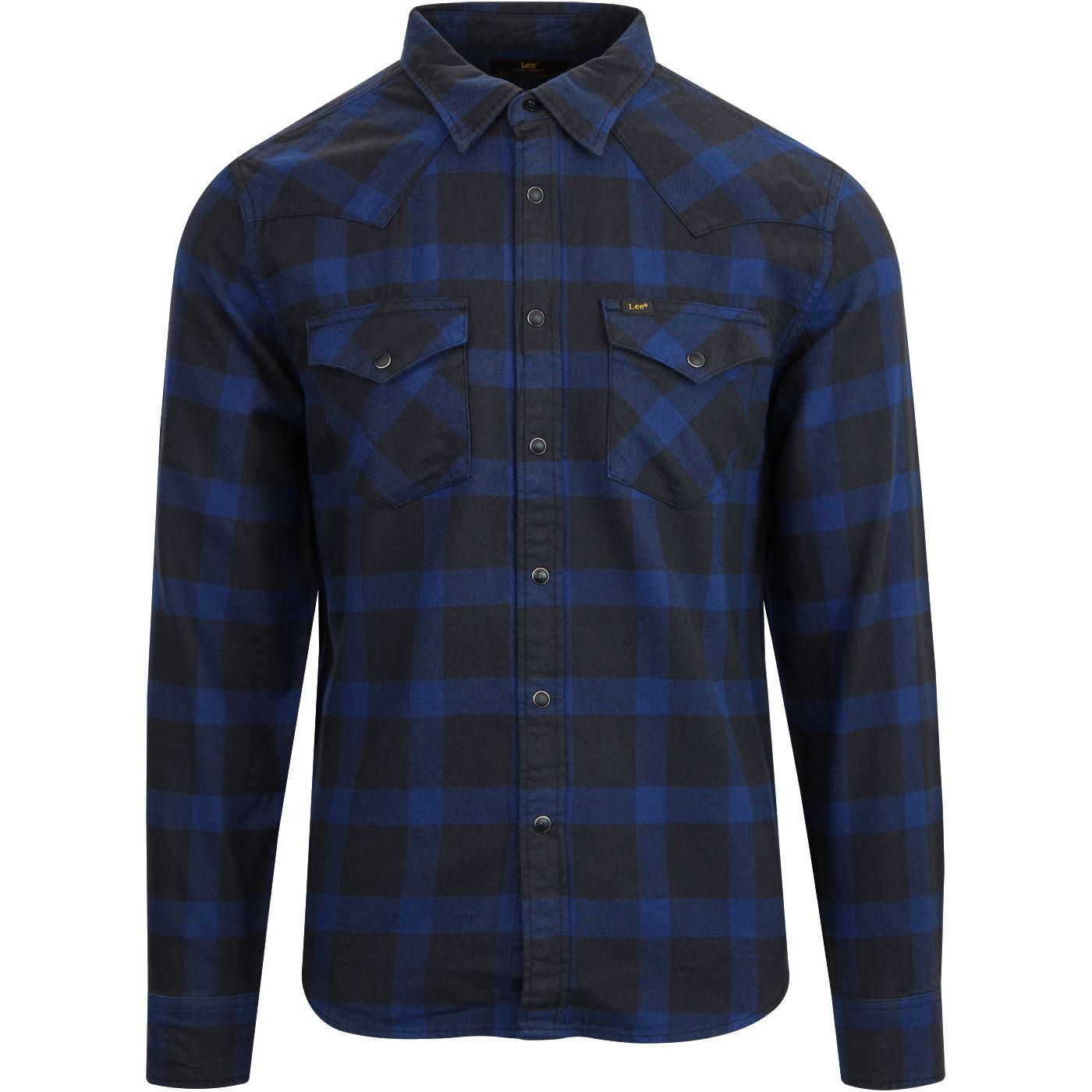 Check LEE MEN'S Retro Western Shirt In Night Sky
