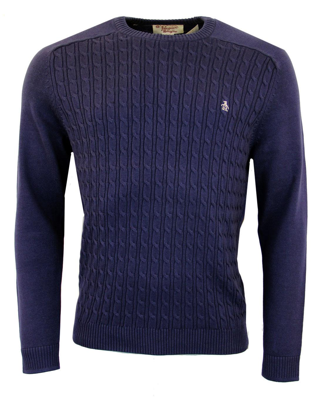 ORIGINAL PENGUIN Retro Mod Cable Knit Jumper (N)