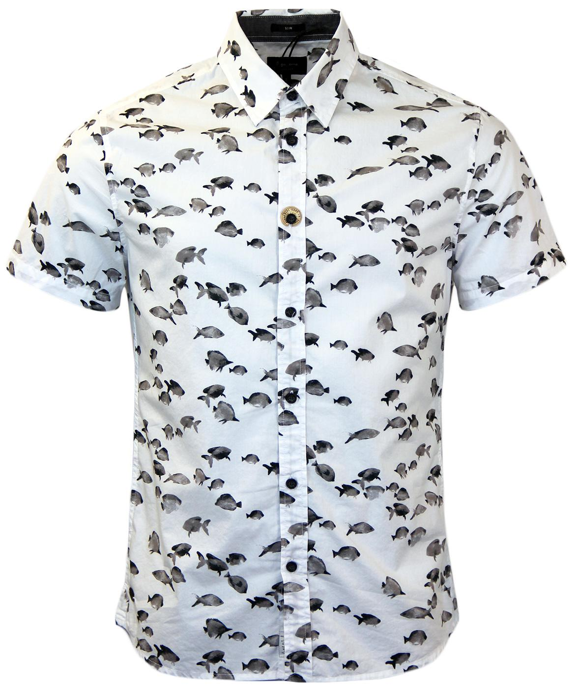 Holden PEPE JEANS Monochrome Tropical Fish Shirt