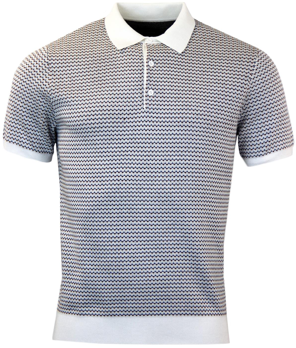 Cosway PETER WERTH Retro Geometric T Knitted Polo