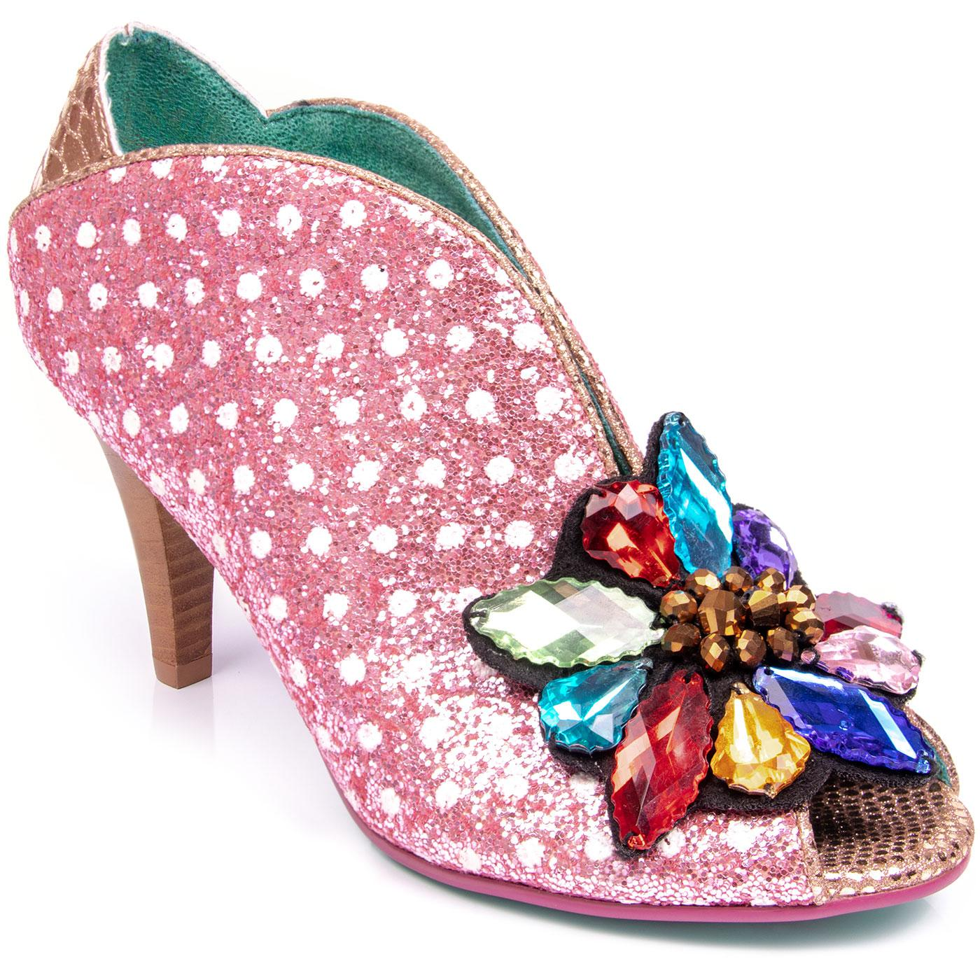 Madly In Love POETIC LICENCE Glitter Shoes PINK