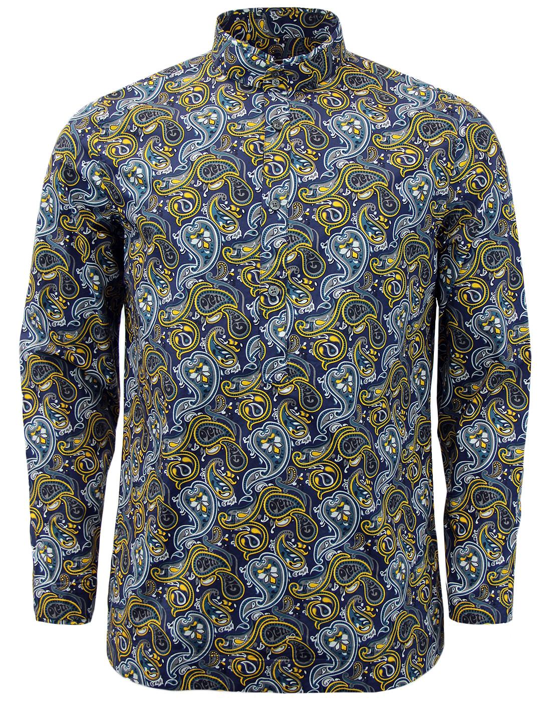 Stretford PRETTY GREEN 1960s Paisley Kaftan Shirt