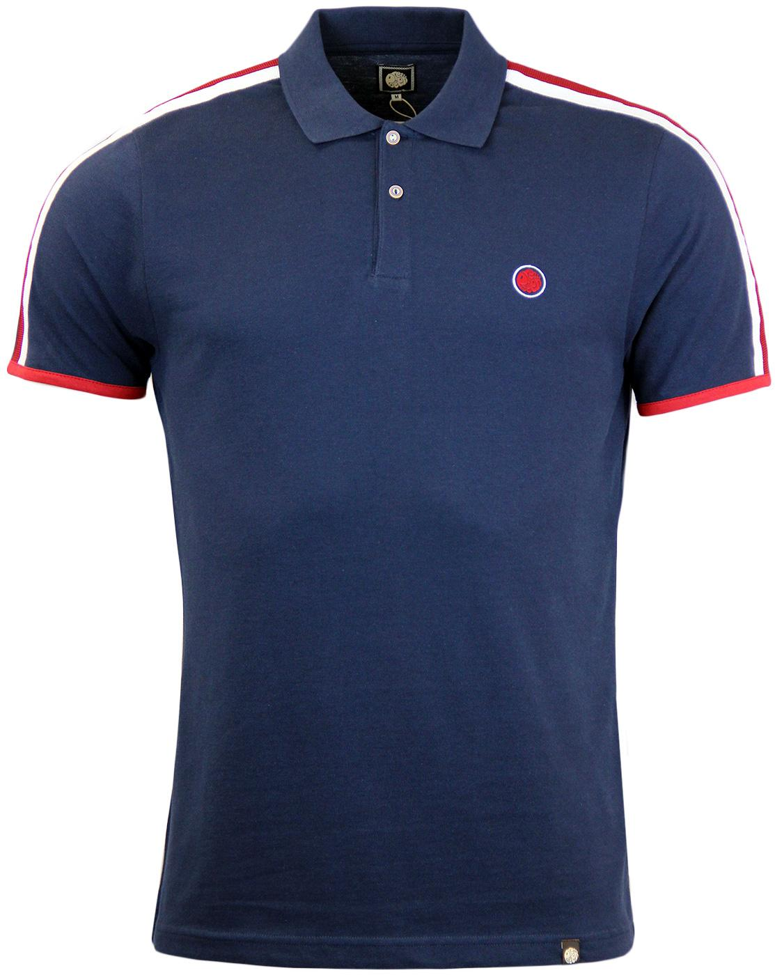 Tilby Moon PRETTY GREEN Shoulder Stripe Pique Polo