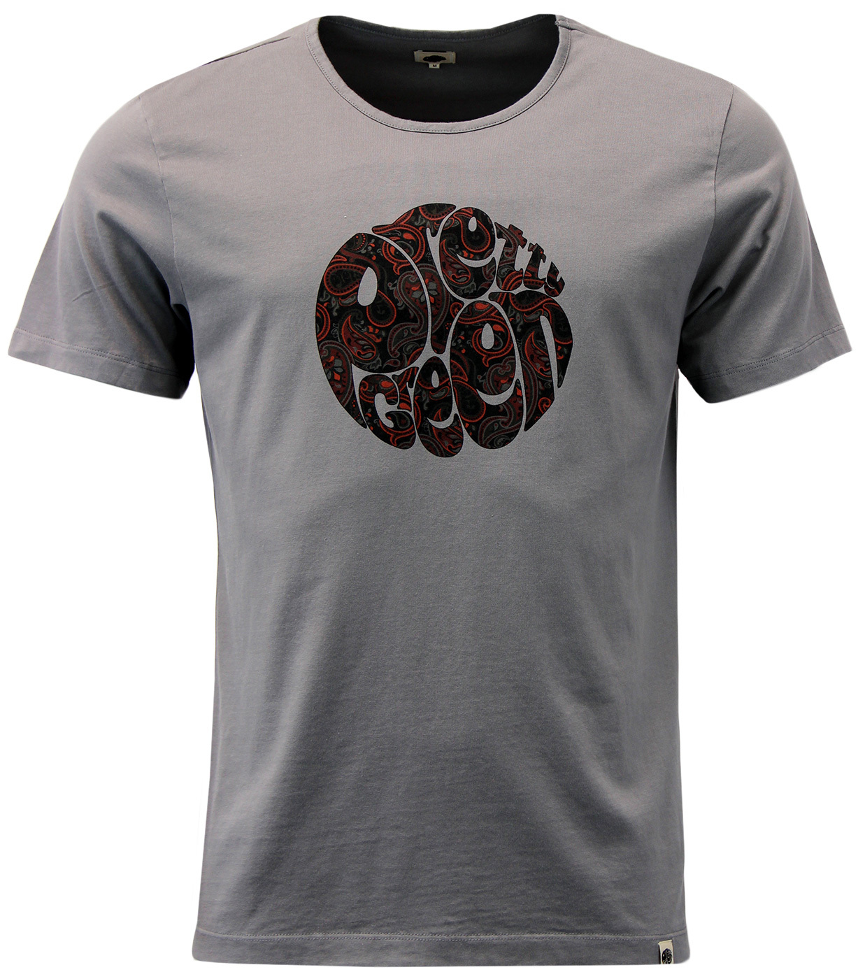 Turner PRETTY GREEN Sixties Mod Paisley Logo Tee