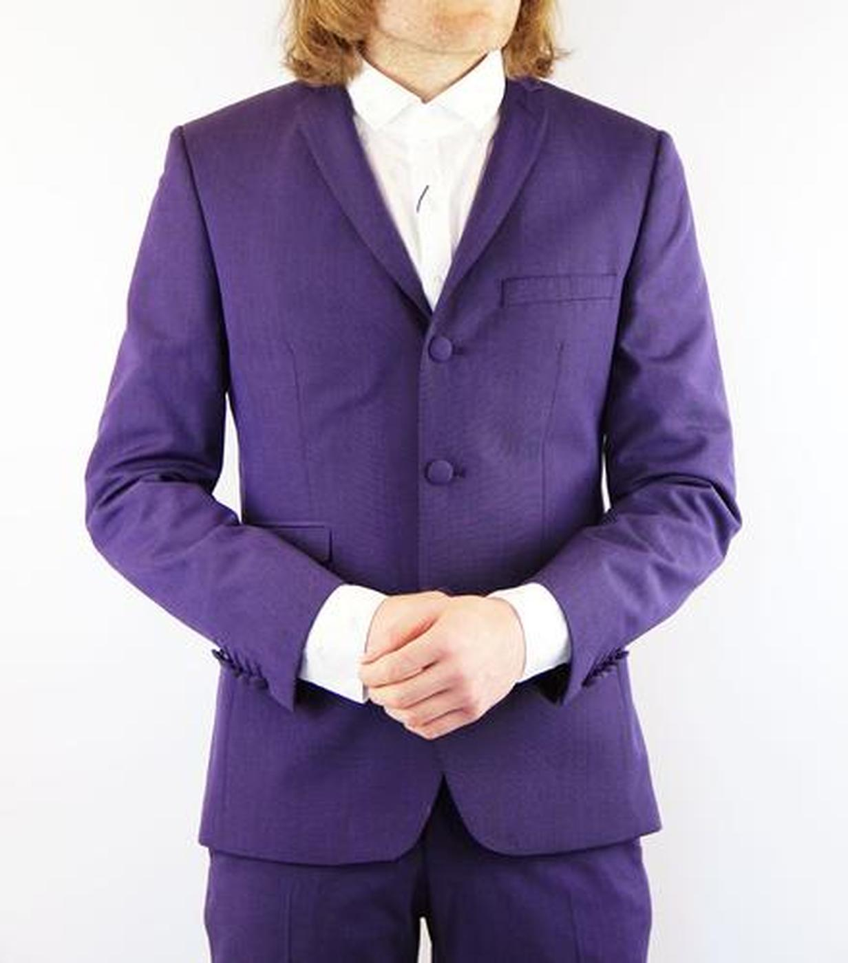 Tailored by Madcap Mod Mohair Suit Jacket (Plum)