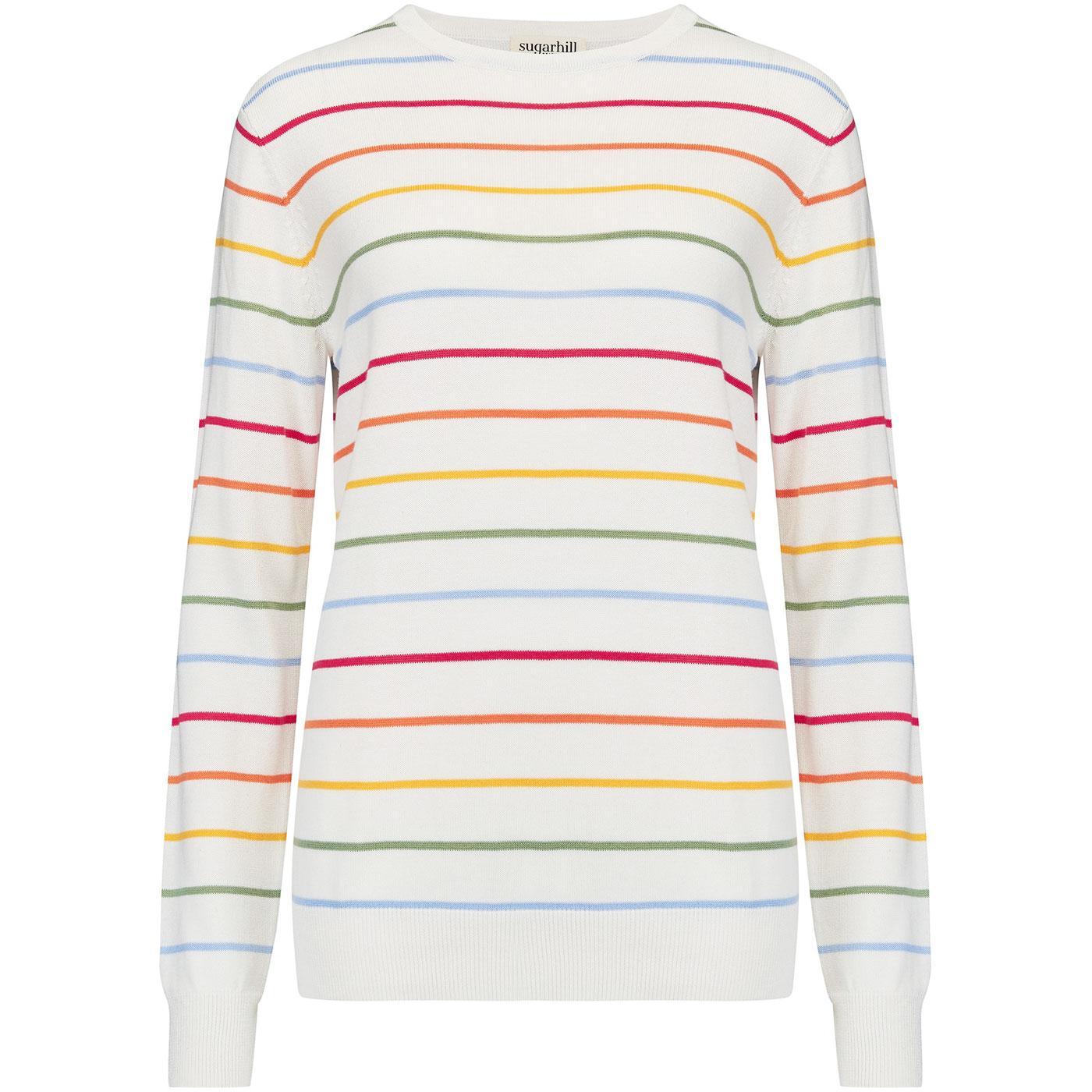 Rita SUGARHILL BRIGHTON 70s Rainbow Stripe Jumper