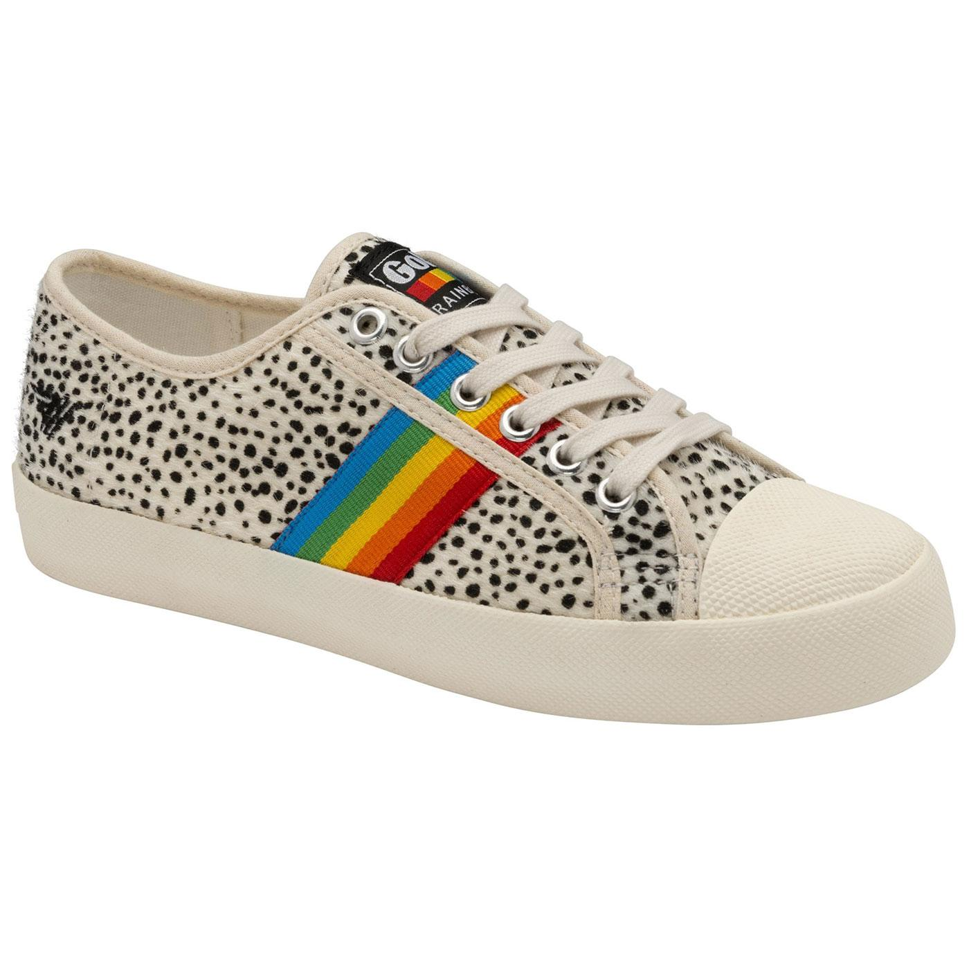 Coaster Rainbow Cheetah GOLA Retro Trainers (OW)