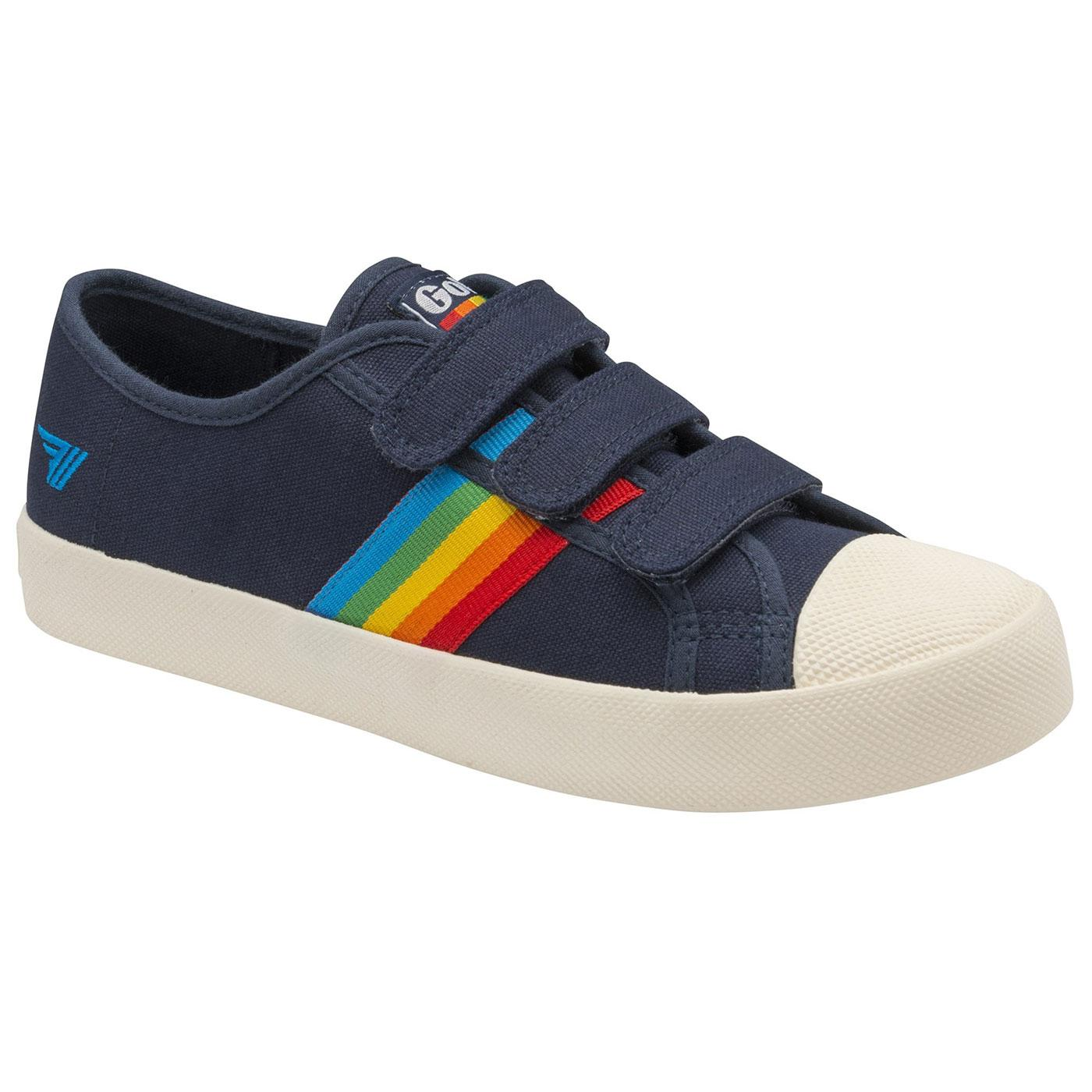 GOLA Coaster Rainbow Velcro Trainers (Navy/Multi)