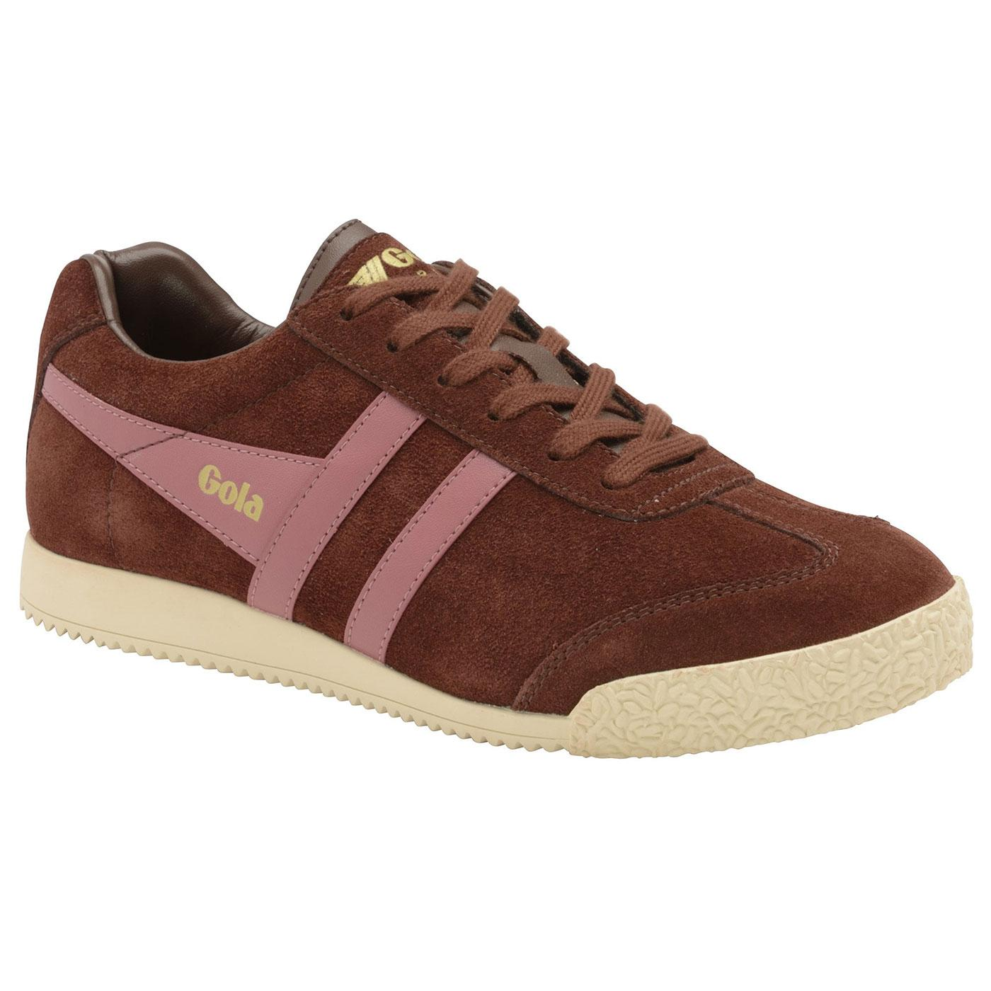 GOLA Harrier Women's Retro Suede Trainers (C/DR)