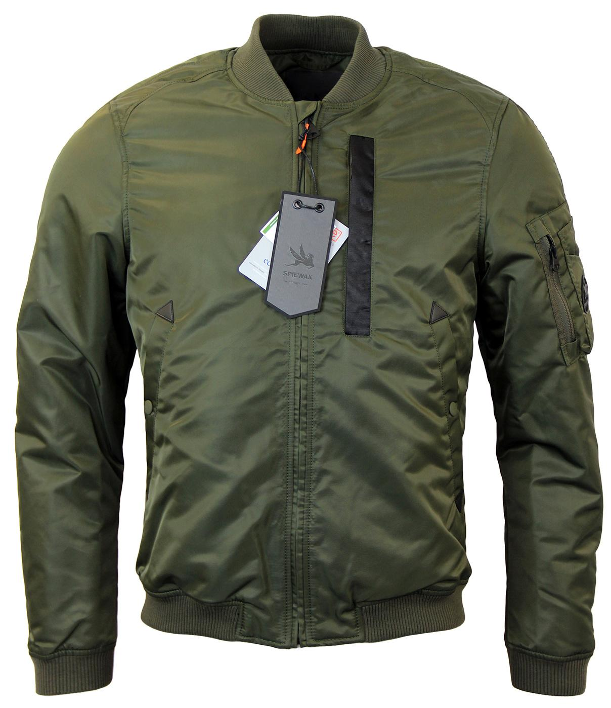 SPIEWAK Retro Mod MA-1 Bomber Flight Jacket OLIVE