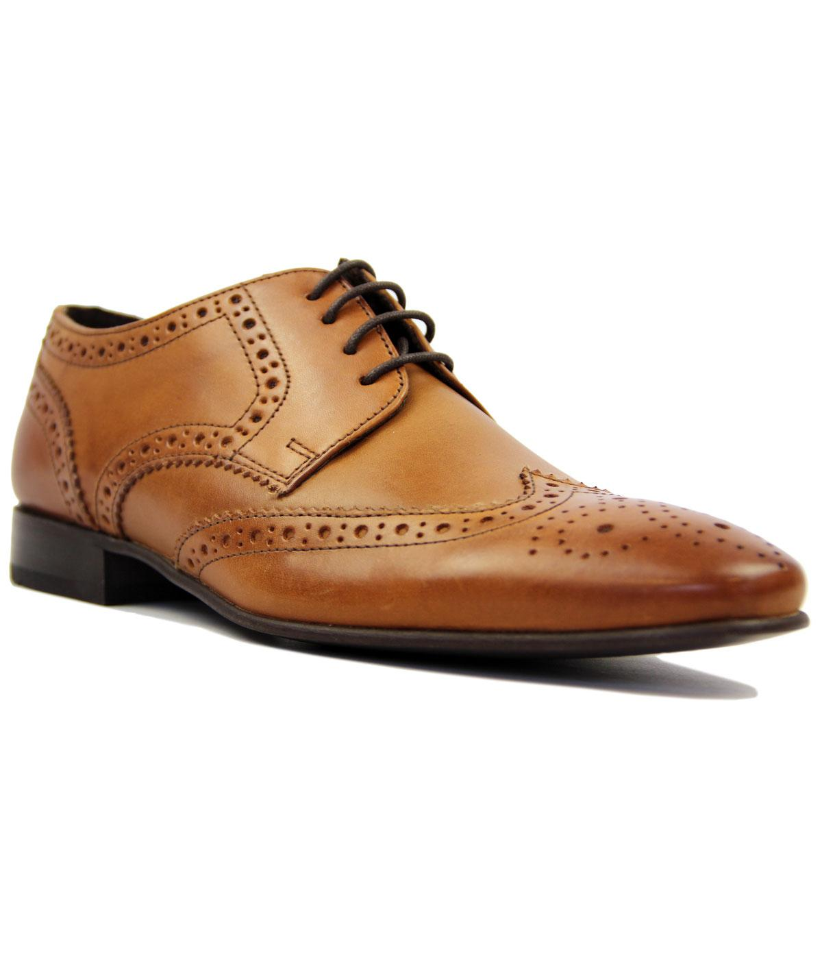 Statham IKON Retro Mod Tan Leather Derby Brogues