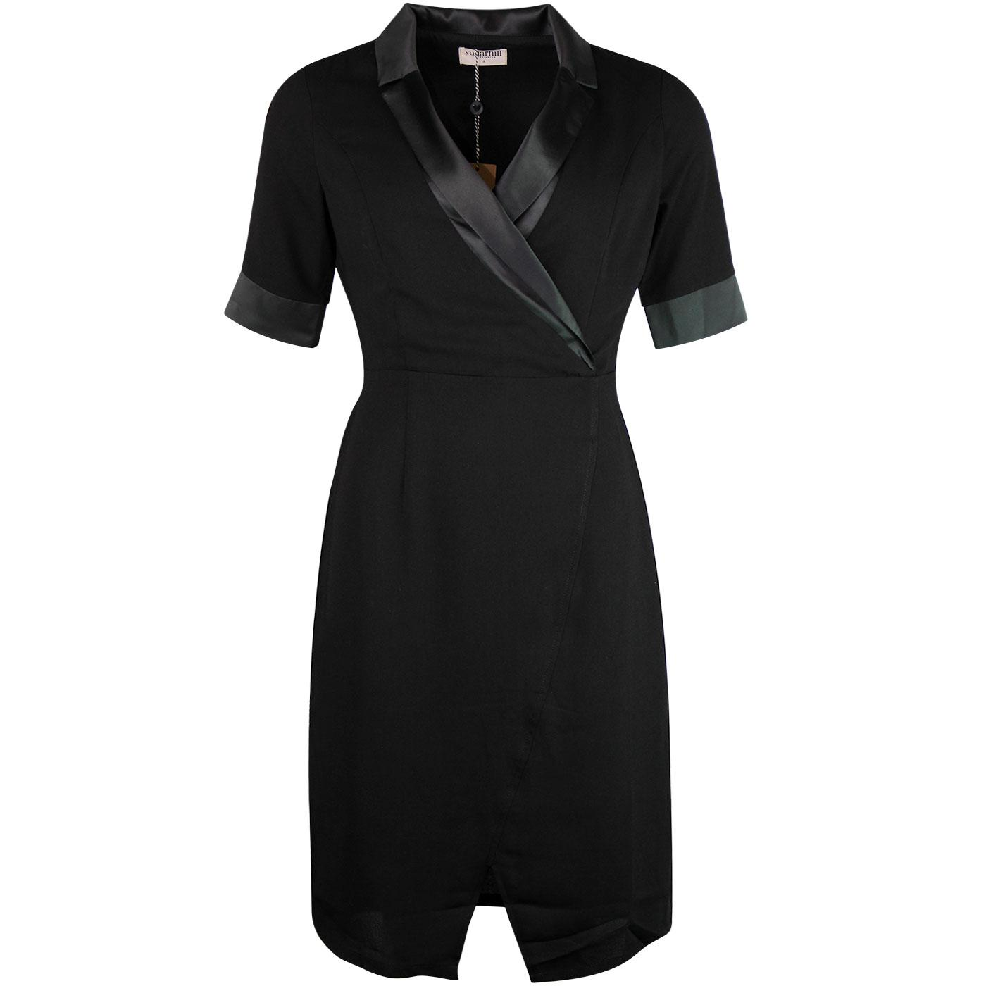 Corinne SUGARHILL BRIGHTON Tuxedo Dress Black