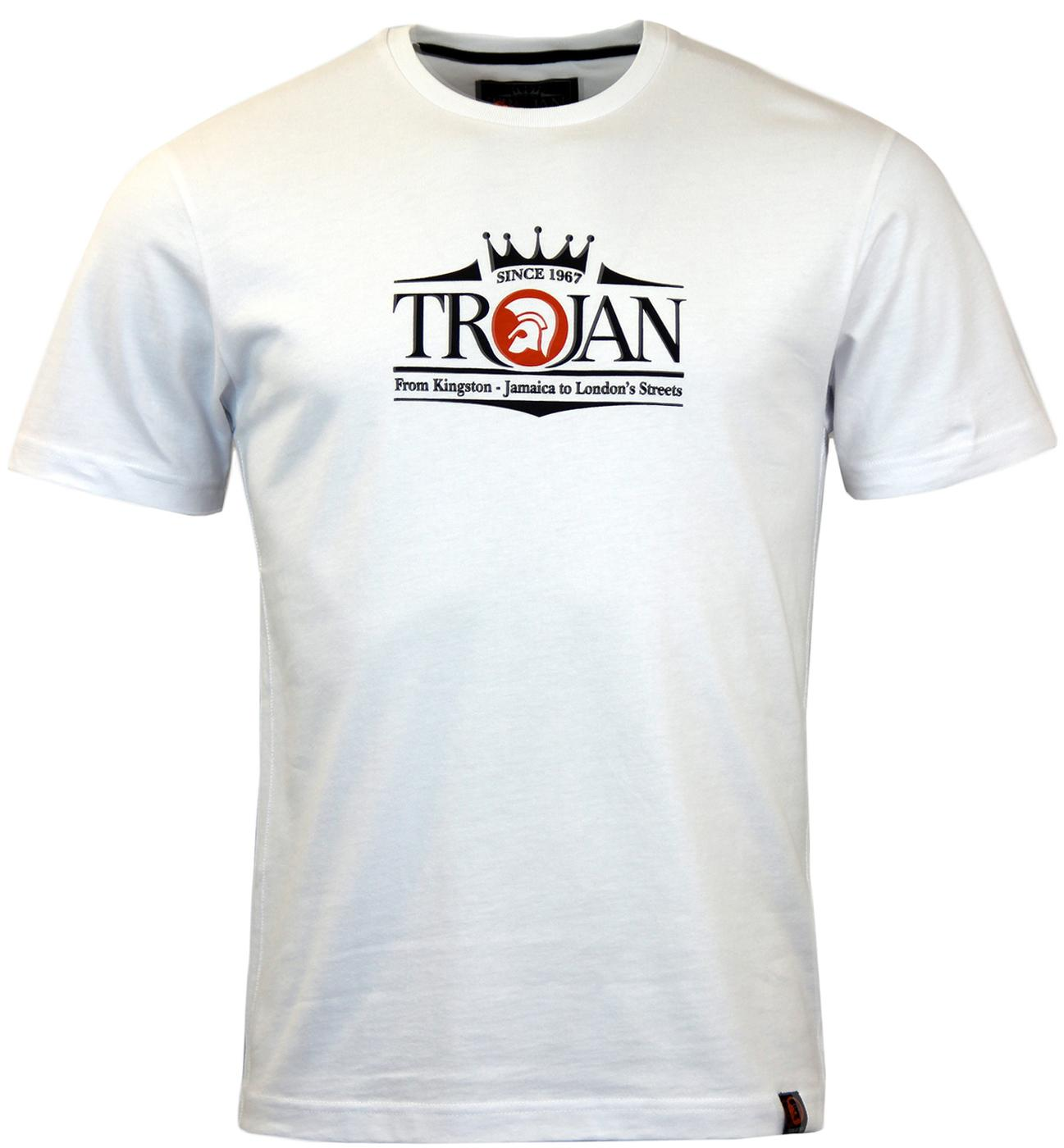TROJAN RECORDS Retro Mod Signature Logo Tee