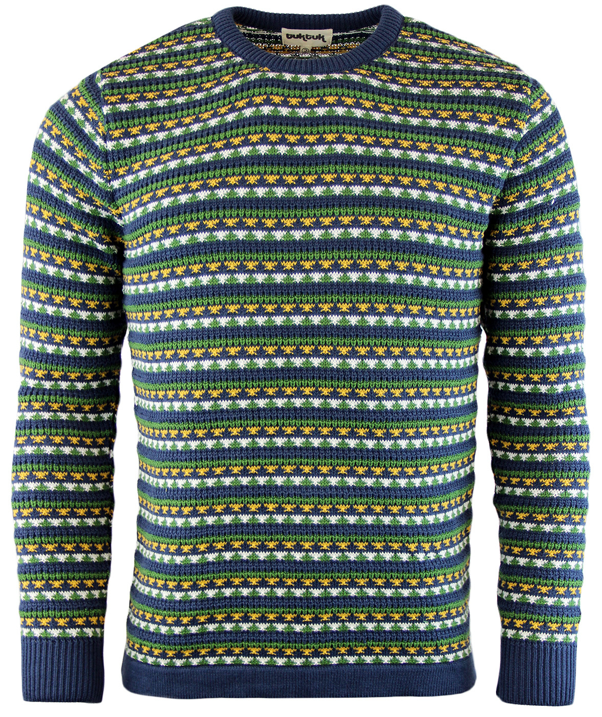 Parsons TUKTUK Retro Indie 70s Mens Knitted Jumper