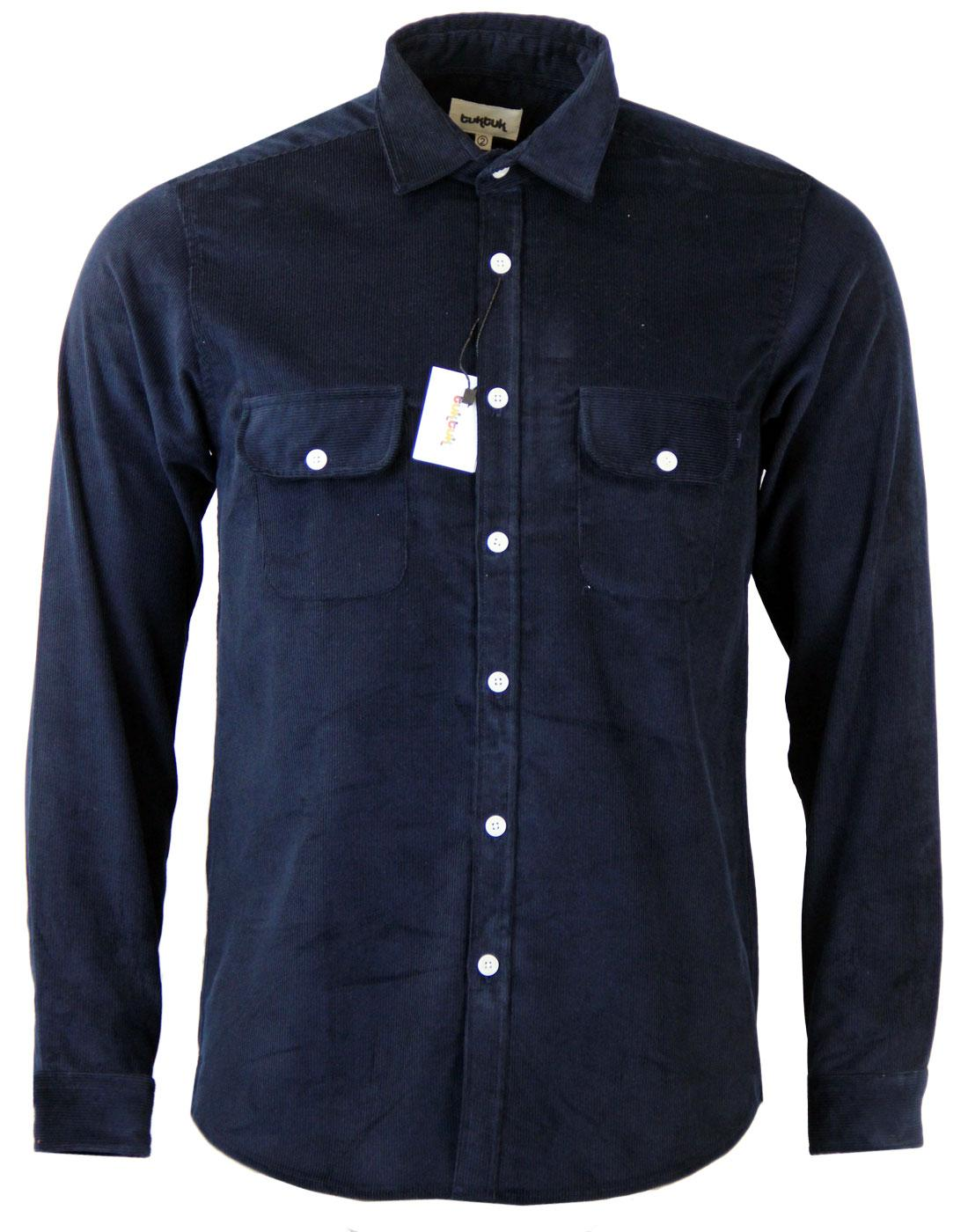TUKTUK Retro Indie Mod Cord Worker Over Shirt (N)