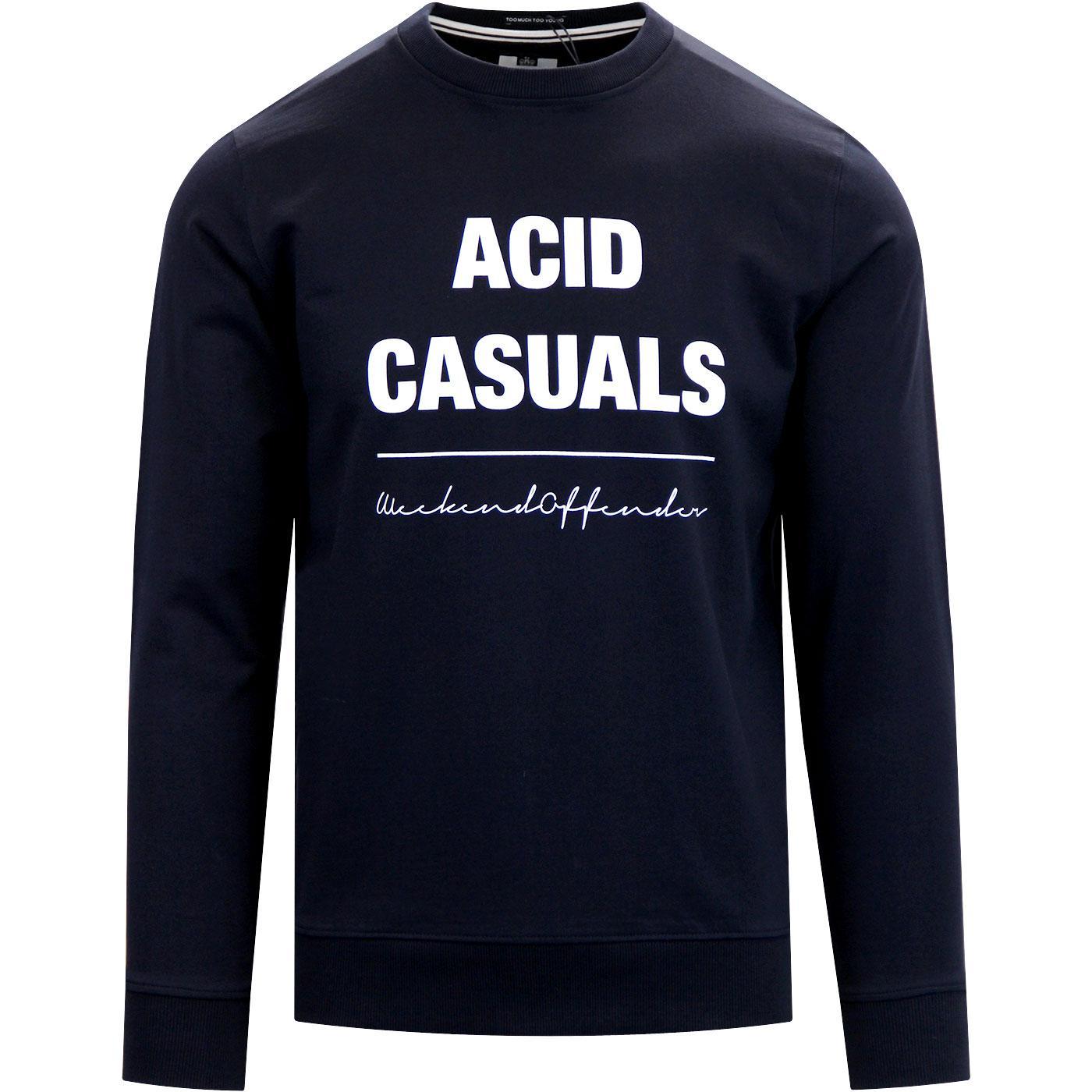 Acid Casual WEEKEND OFFENDER Retro Print Sweater