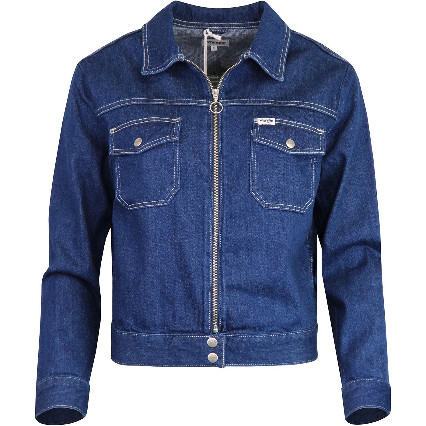 WRANGLER Womens Retro Denim Zip Carpenter Jacket