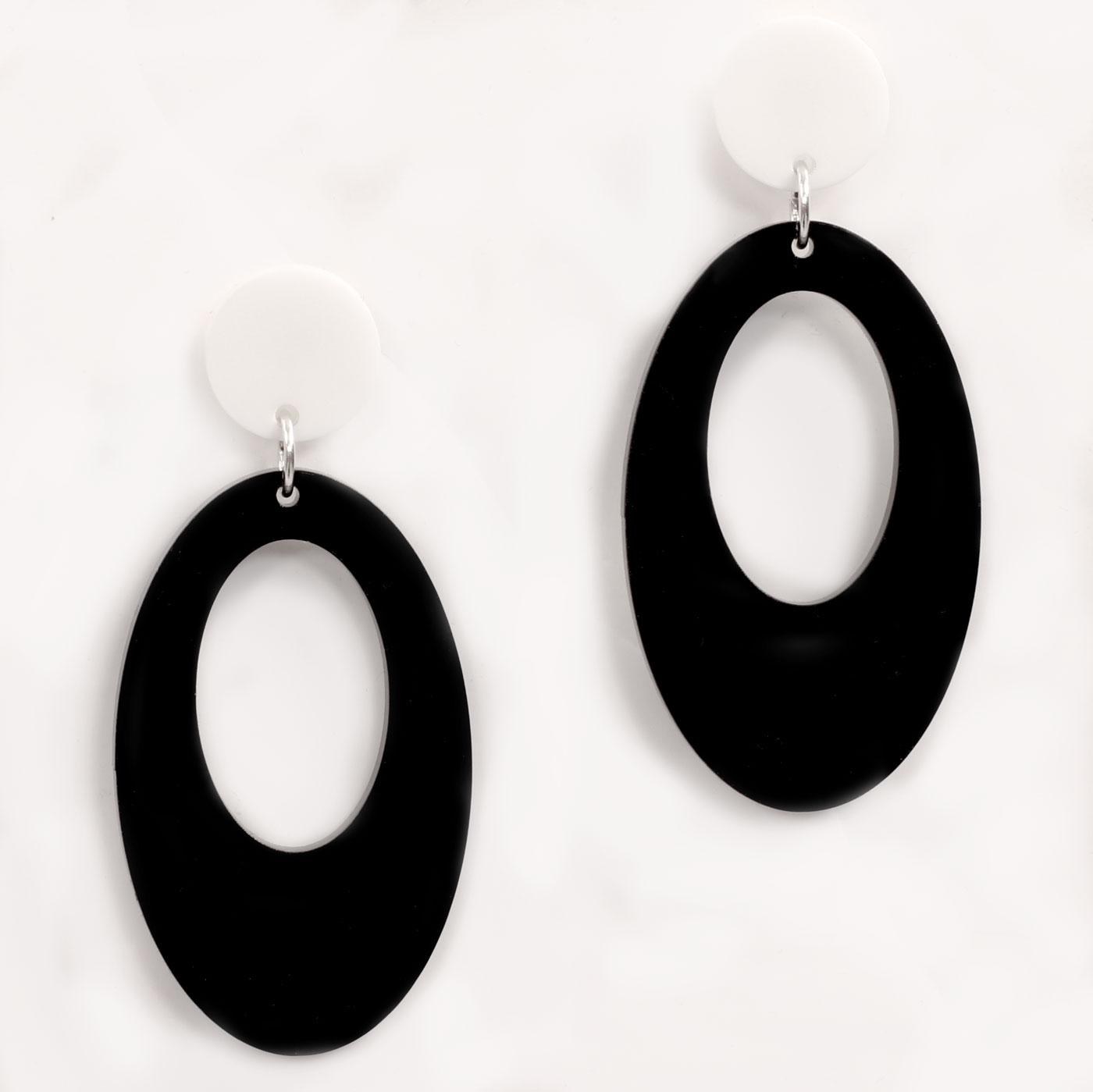 +ADA BINKS for MADCAP ENGLAND Mod Oval Earrings B