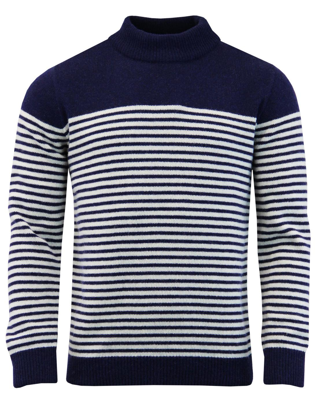 Combin AFIELD Mod Breton Stripe Turtleneck Jumper