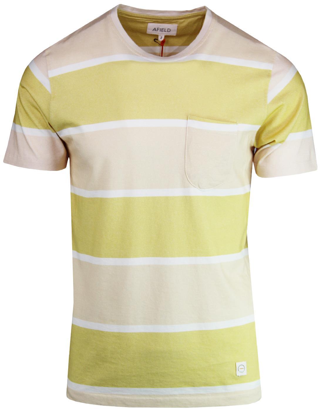Dos AFIELD Men's Retro 1970s Block Stripe T-shirt