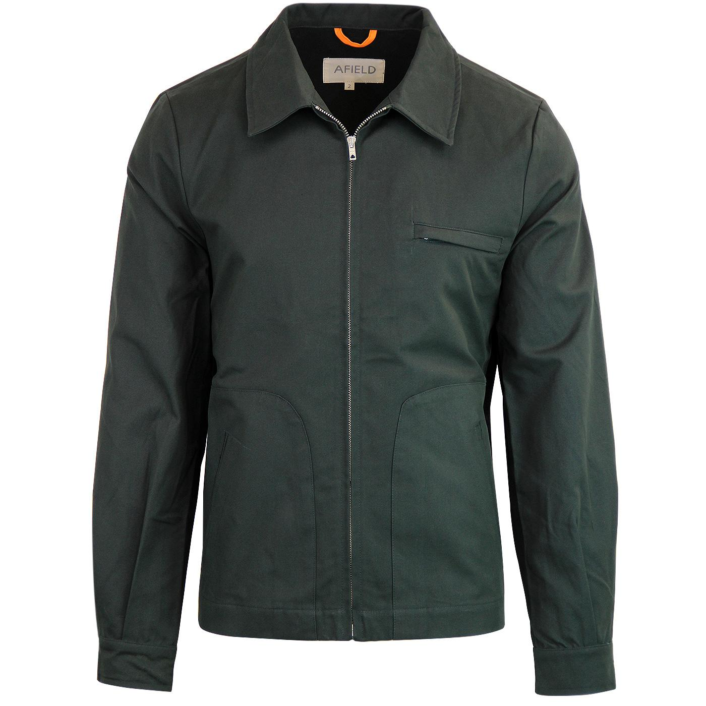 Ernest AFIELD Mens Retro Mod Military Jacket GREEN